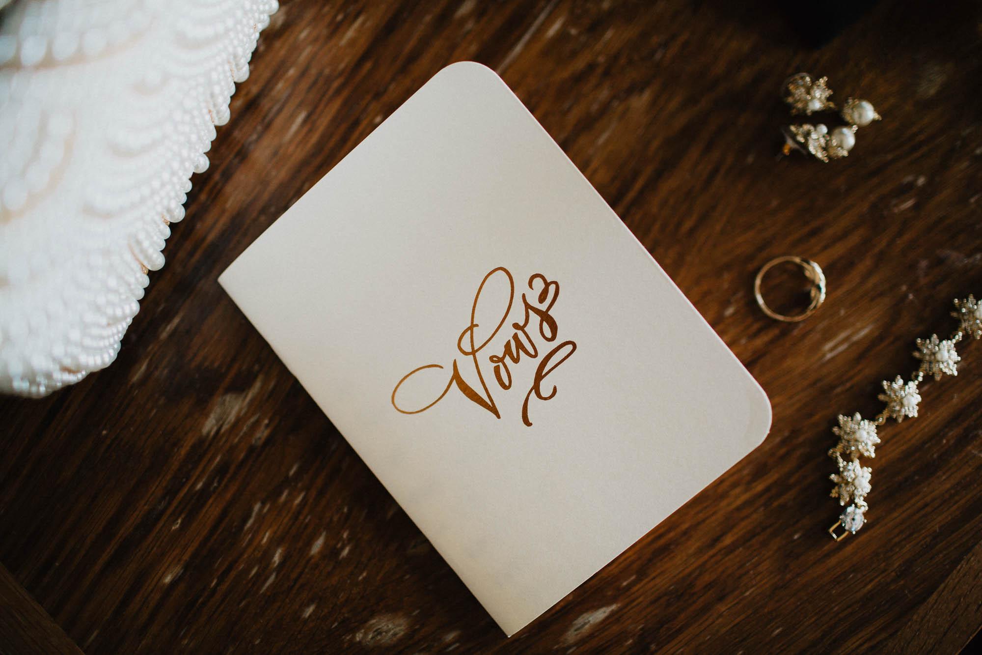 Custom Wedding Vow Notebook