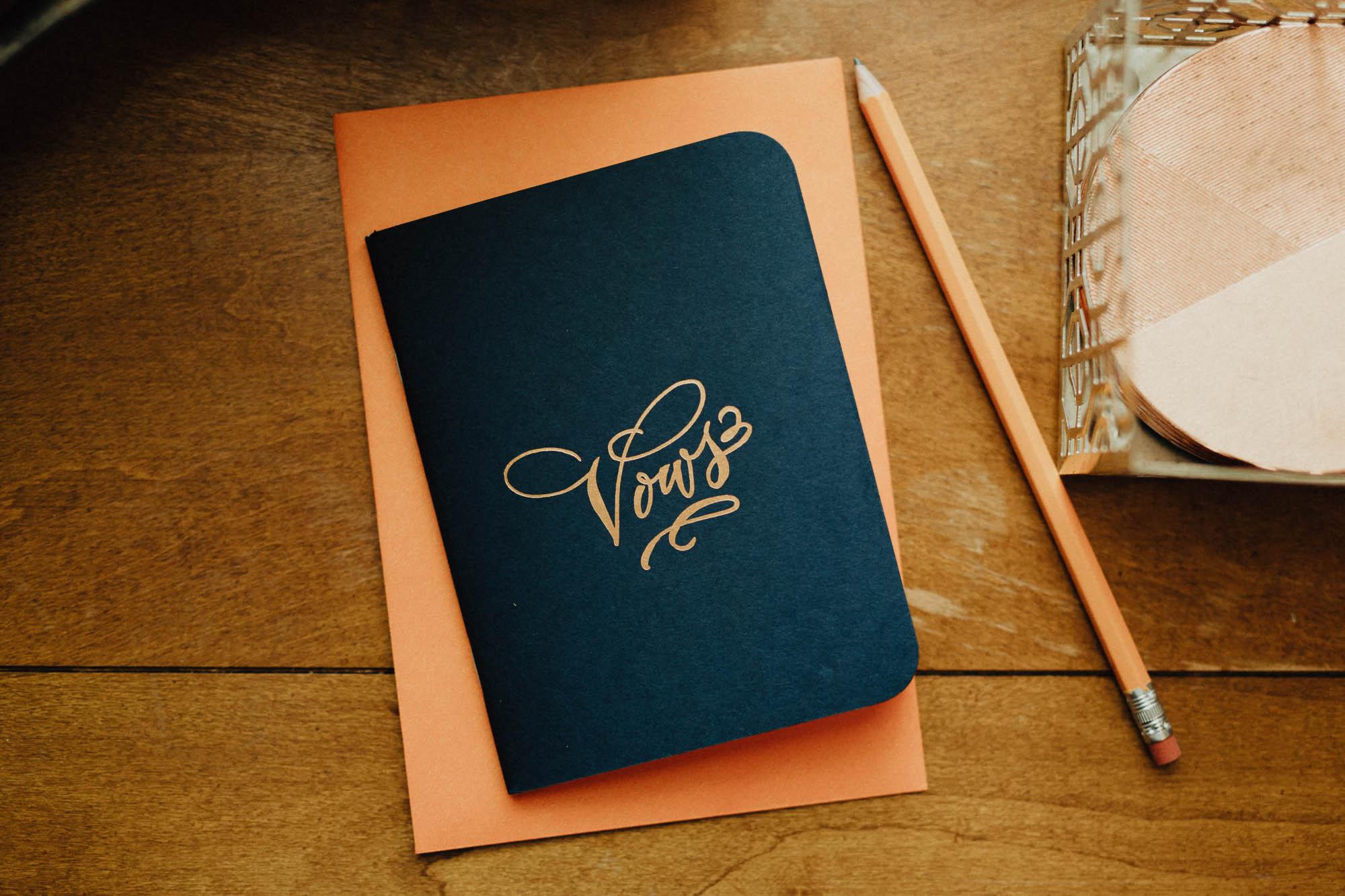 Handmade Wedding Vow Book
