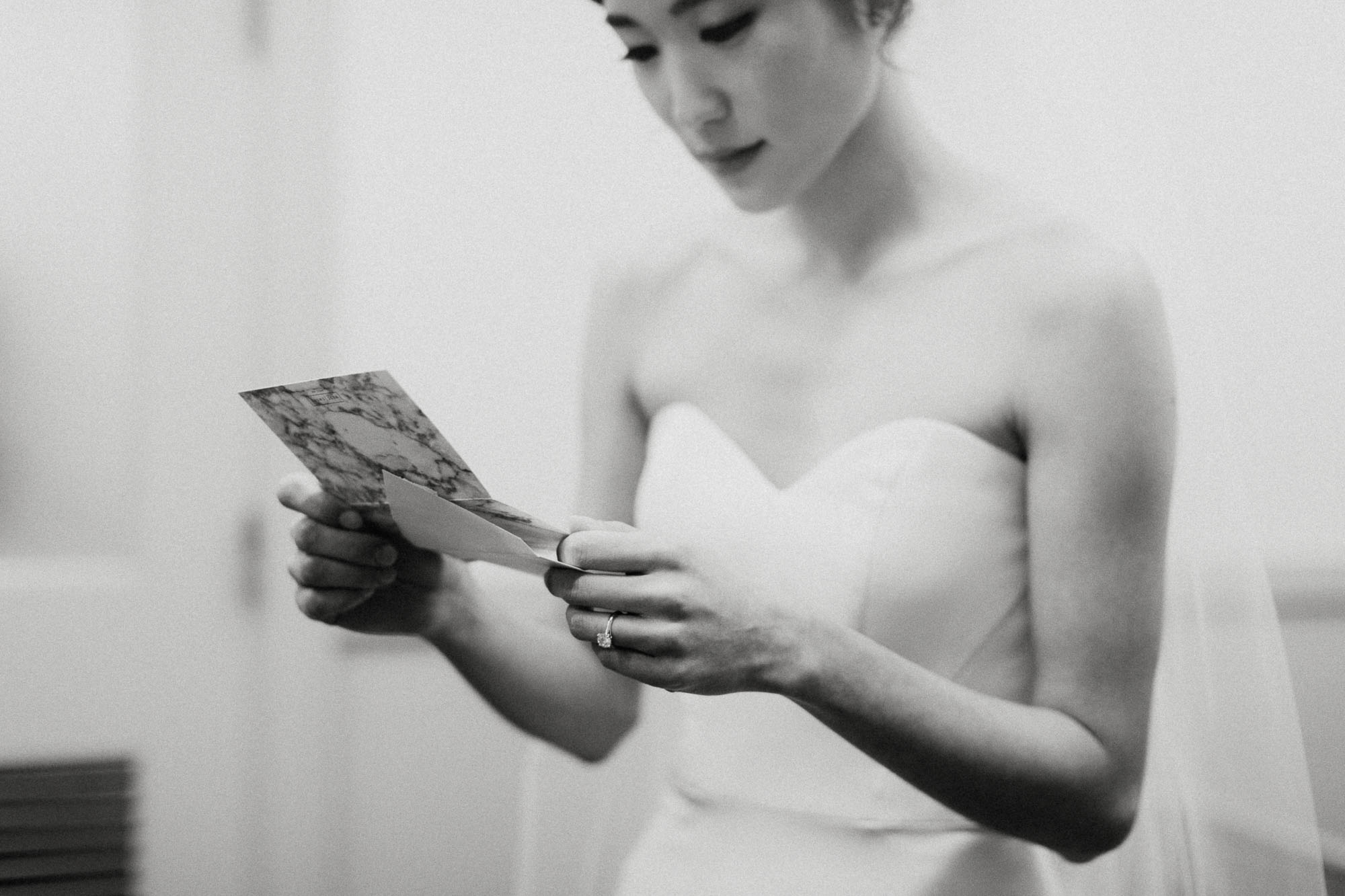 Intimate Note Reading at Wedding