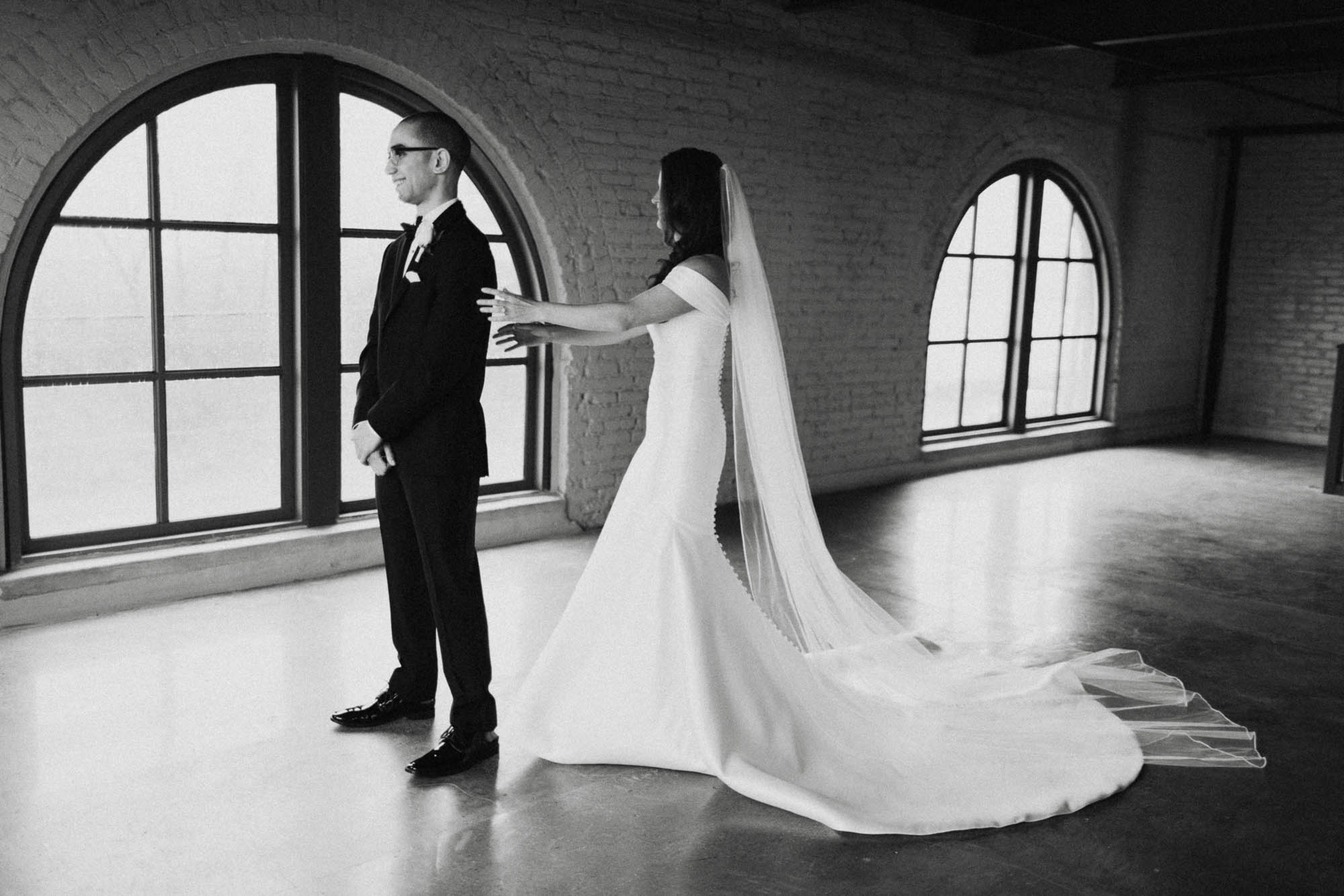 Dayton Steam Plant Wedding First Look