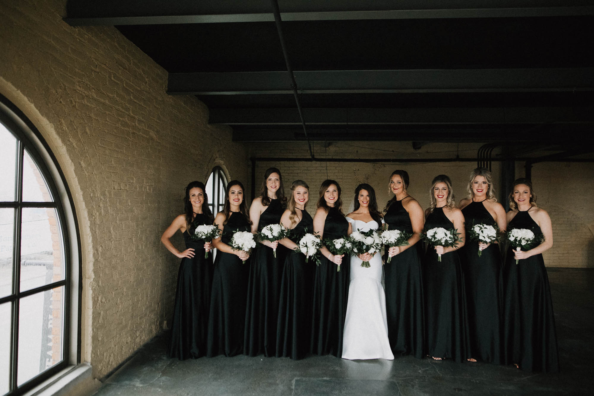 Wedding Party Photo at The Steam Plant