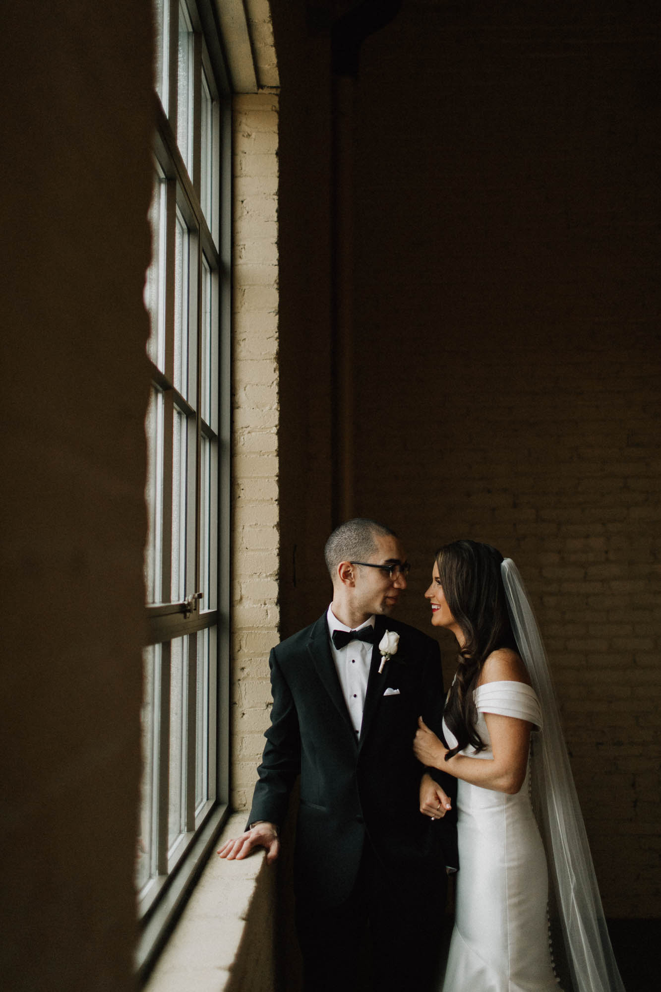 Bride Groom Window Light The Steam Plant