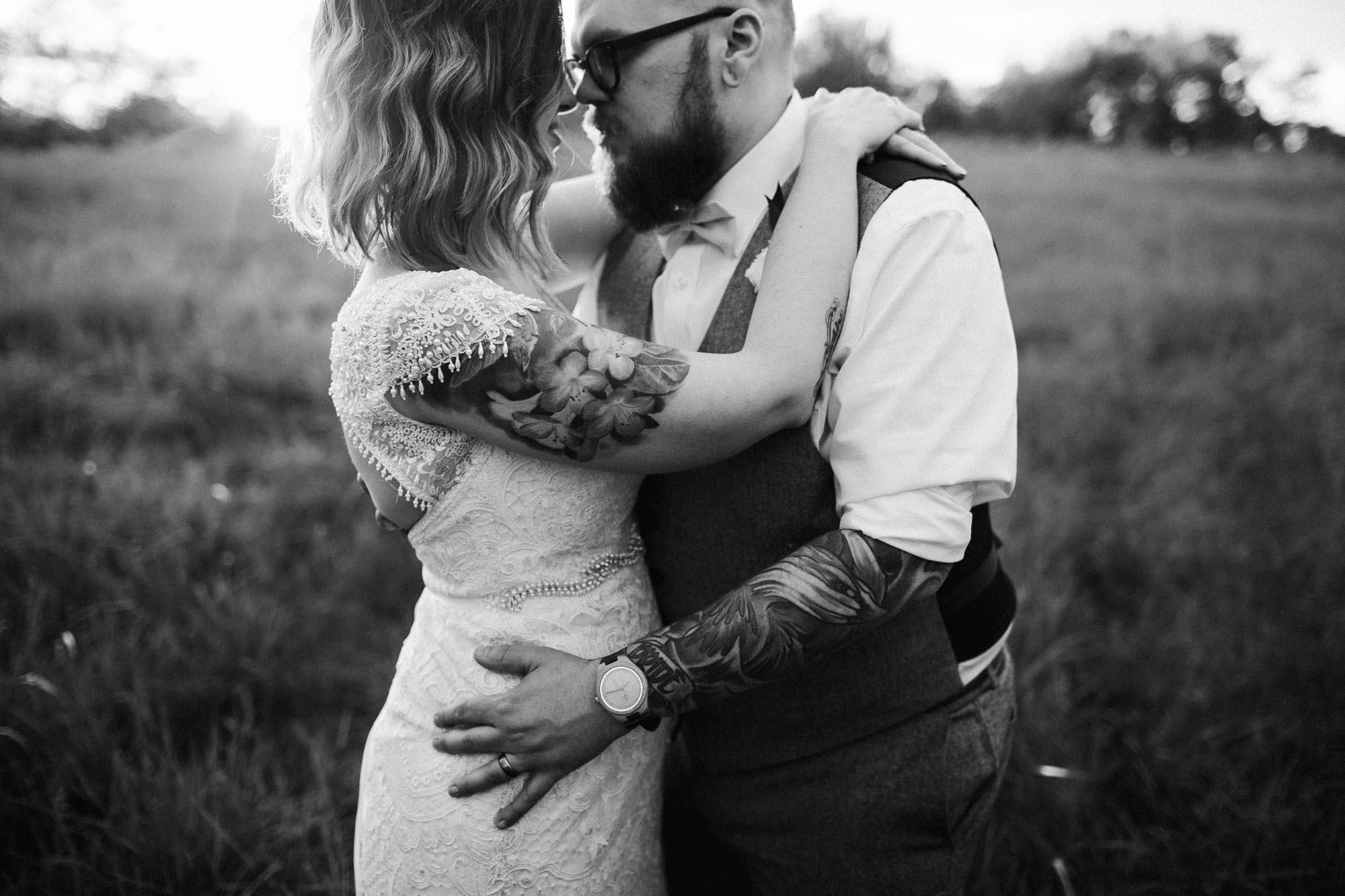 Ohio Barn B&B Summer Tattoo Wedding