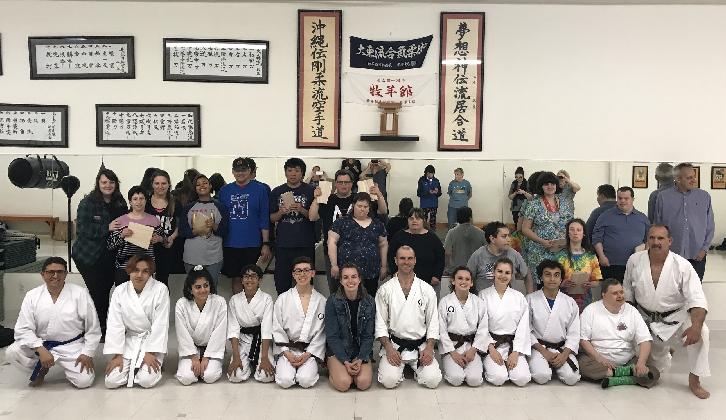 2019 Rutherford Exceptional Individuals visits TheDOJO in Rutherford NJ with Sensei Dan Rominski