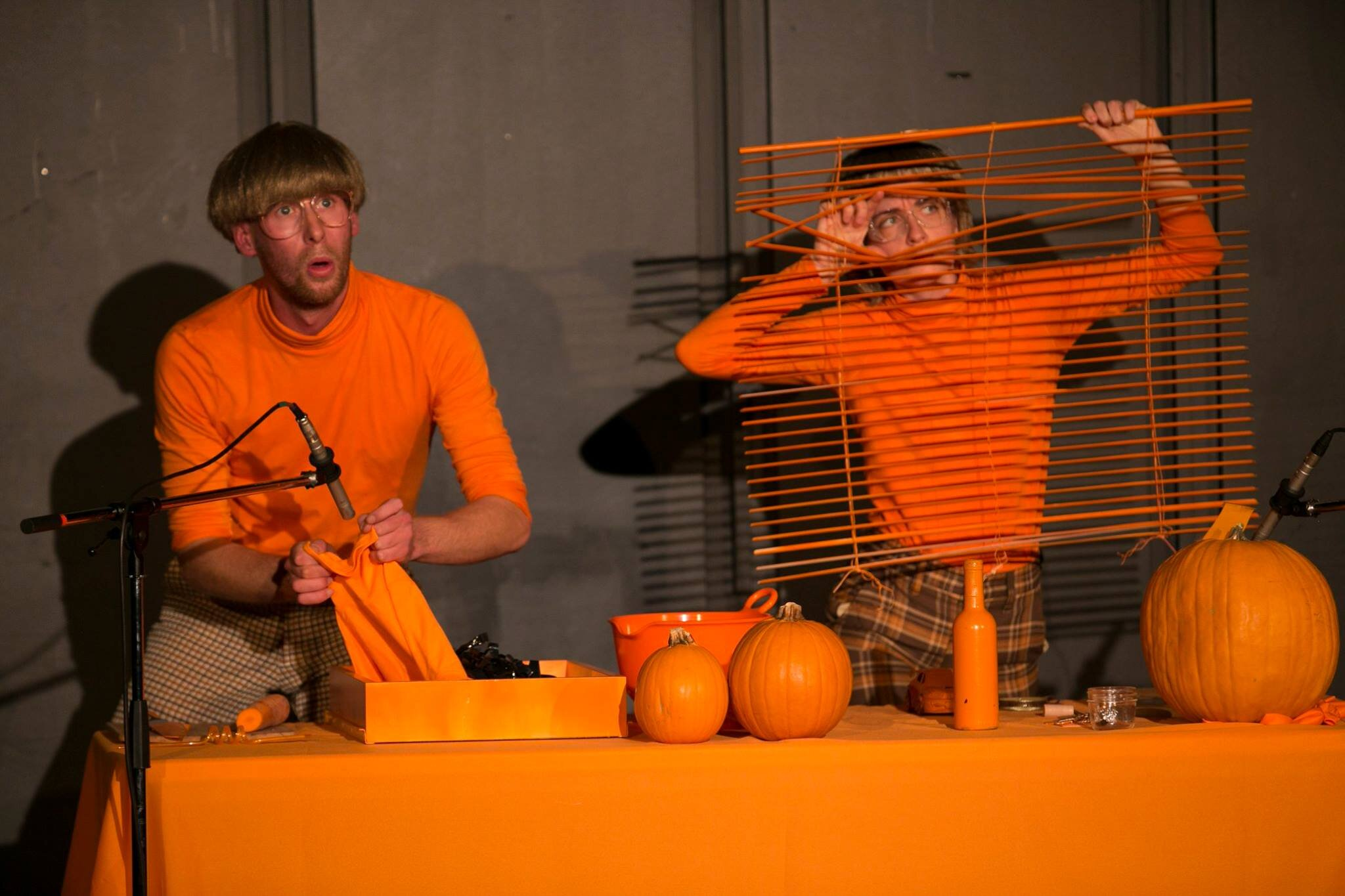 Mitchel Rose (L) and Madeleine Hall (R) in their Fresh Meat creation  Folie . Photo by Ming Wu.