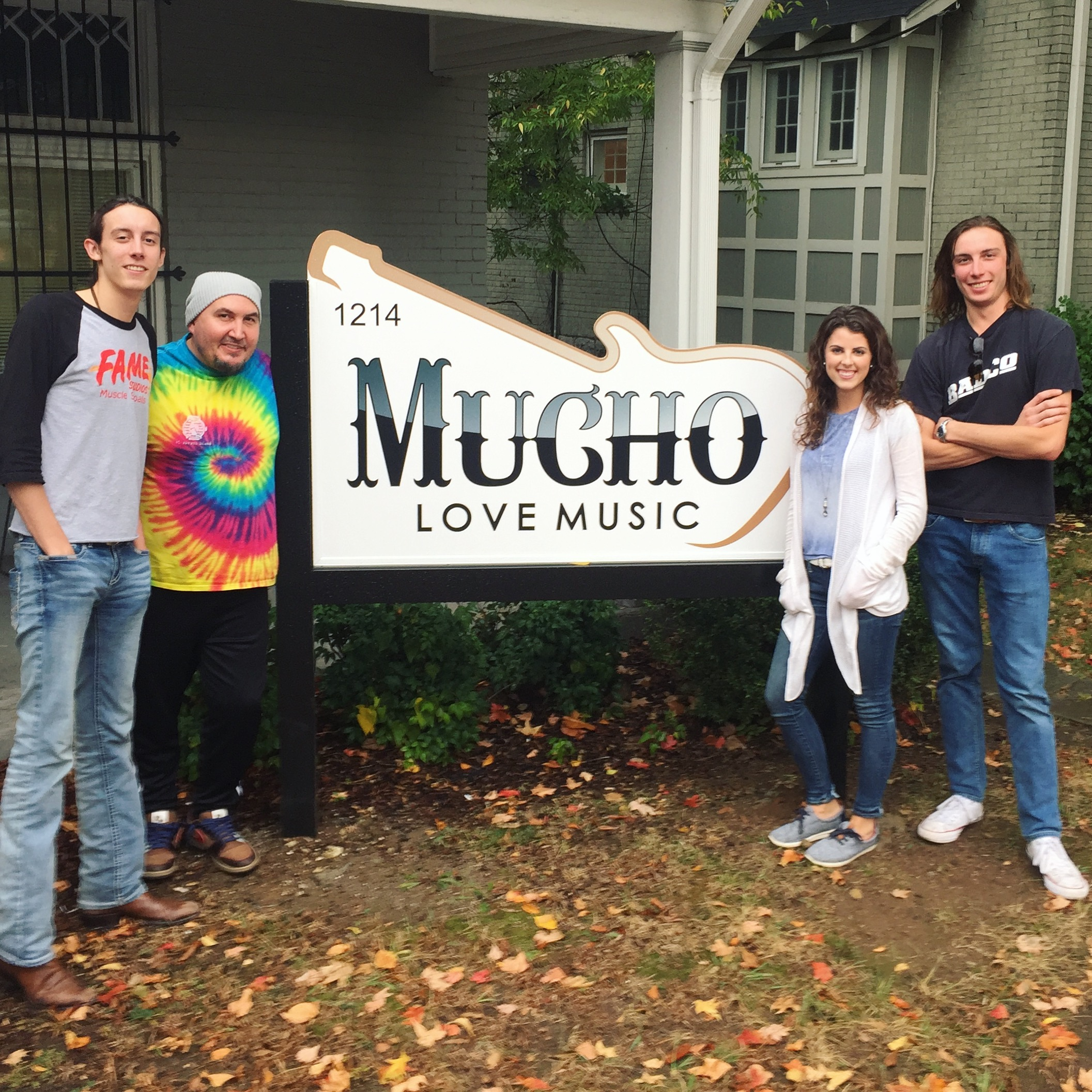 L-R: Kevin Nolan, Mark McGuinn, Lexi, and Matt Nolan after their write at Mucho Love Music