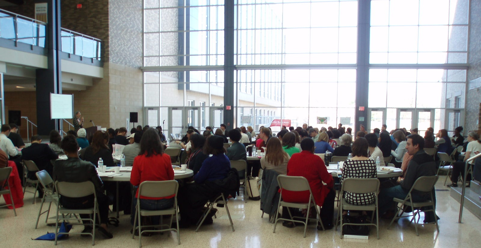 Parents and Community discuss student assignment policy at Dunbar in 2014.