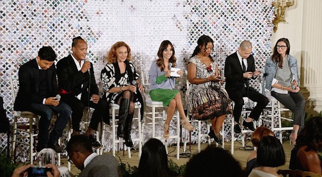 fashion panel: Jason Wu, Edward Wilkerson, Diane von Furstenberg, Tracy Reese, Prabal Gurung and Jenna Lyons. The panel, moderated by Lilliana Vazquez