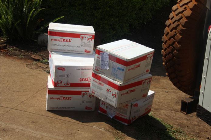 picking boxes up in Monduli