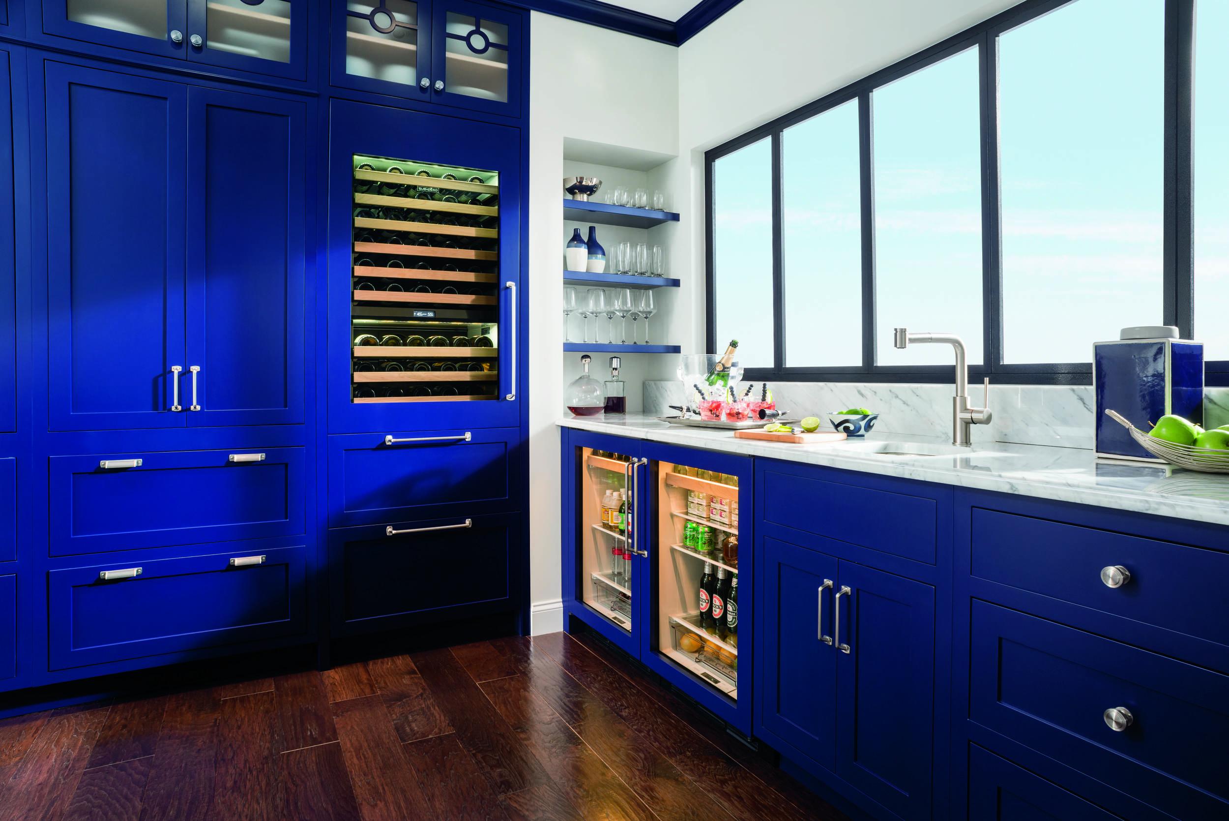 sub zero wolf integrated wine storage blue kitchen.jpg