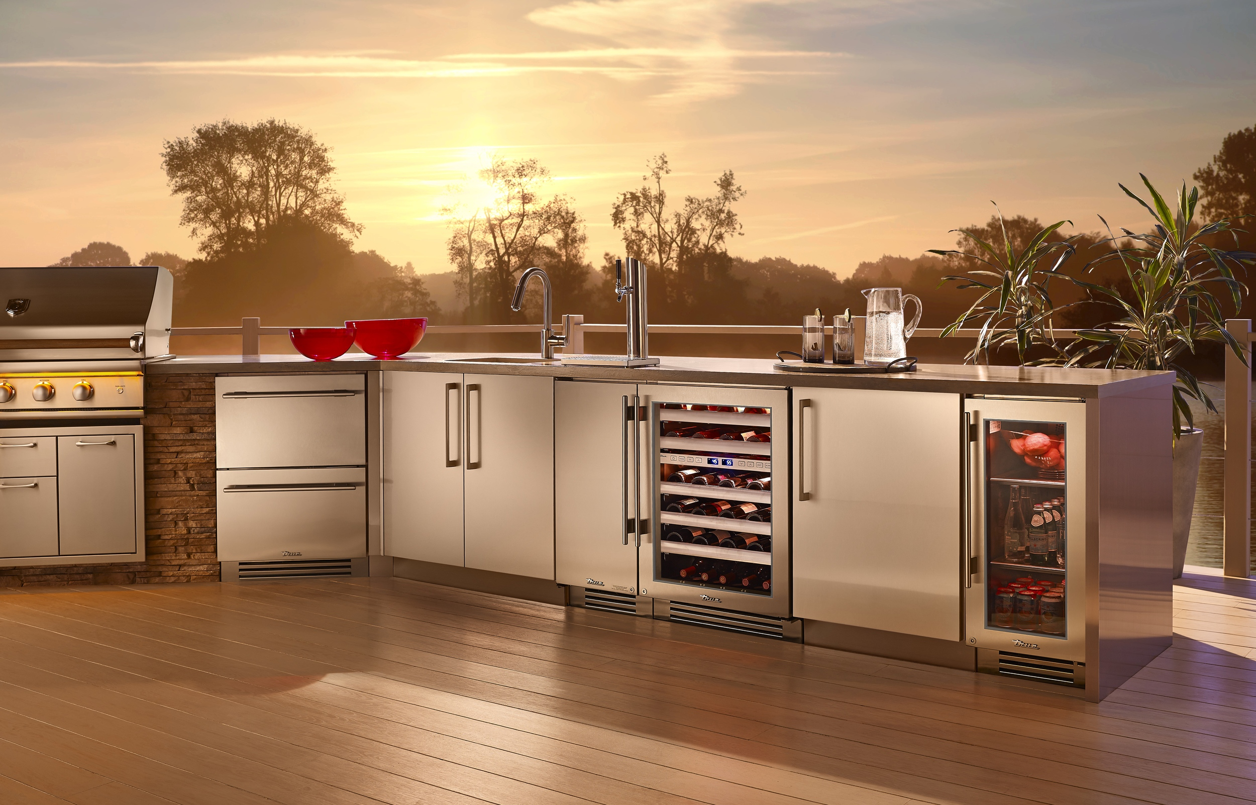 An outdoor kitchen by True Manufacturing