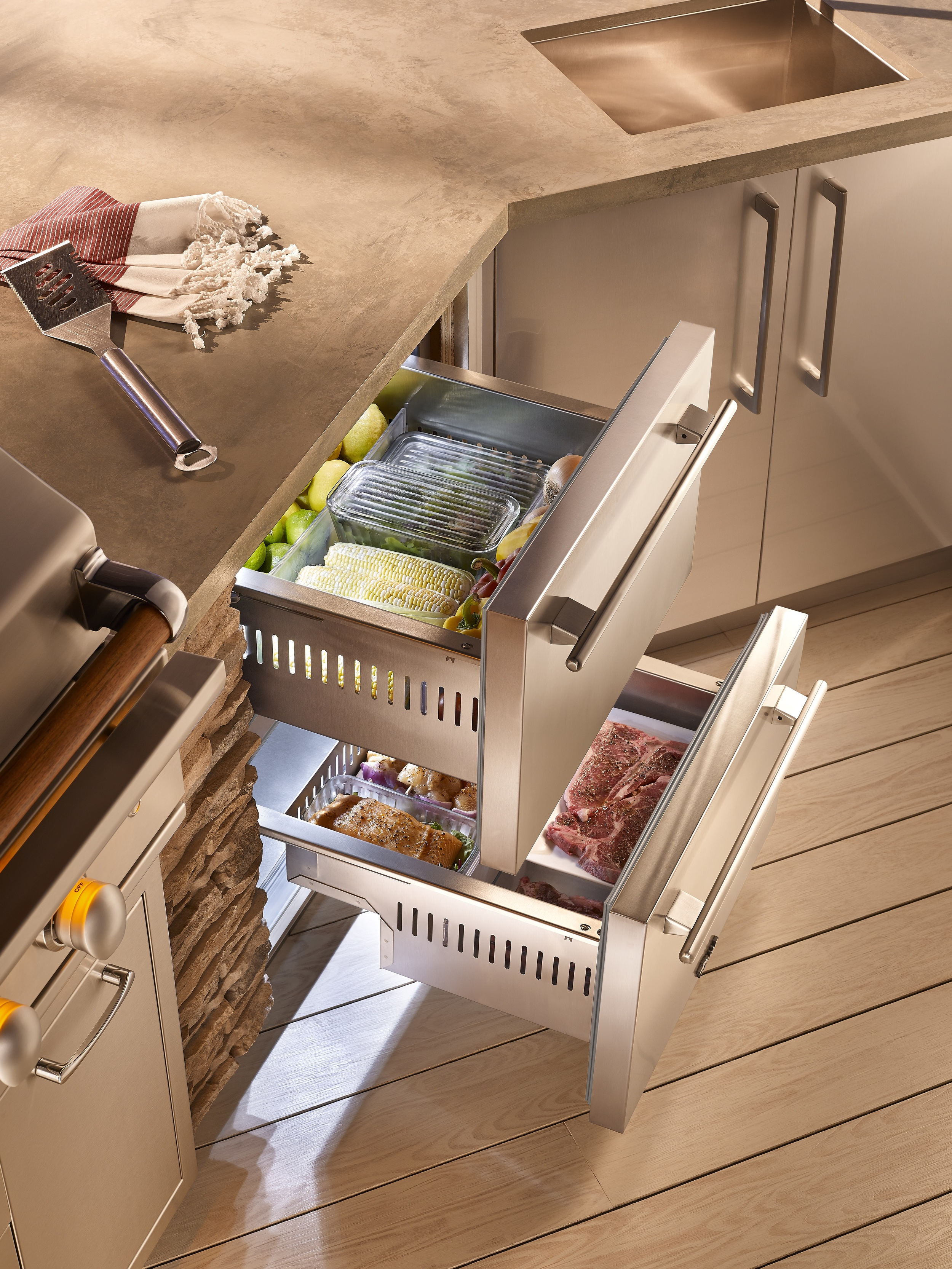 A compact outdoor kitchen by True Manufacturing