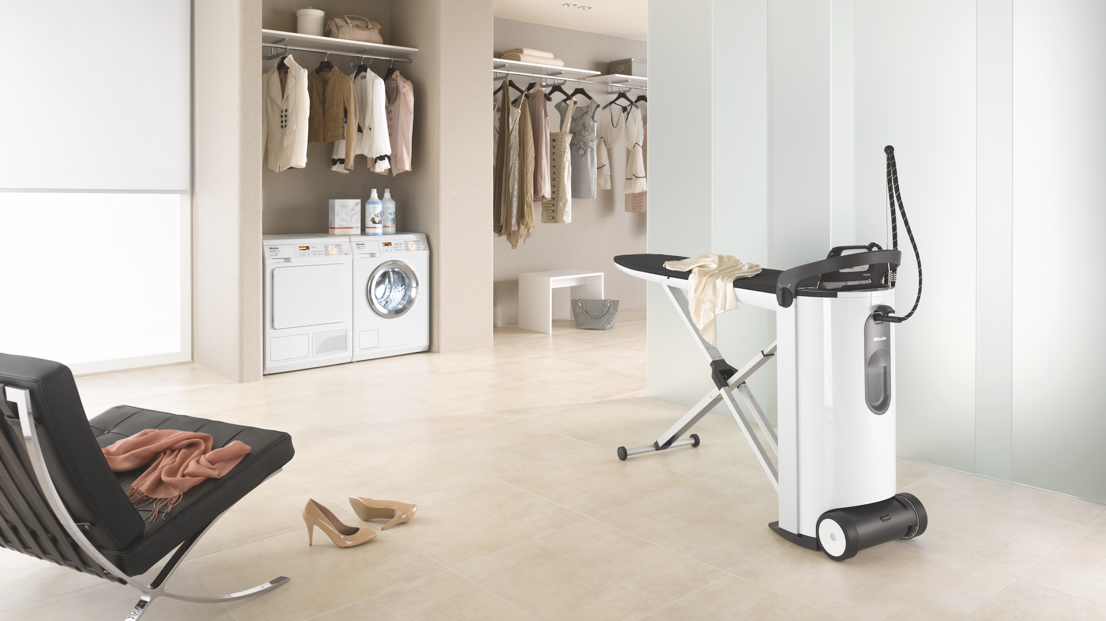 The new FashionMaster steam iron from Miele.