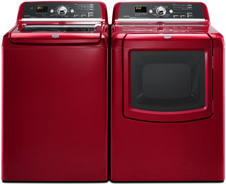 Maytag's Bravos line in a cheerful hue.
