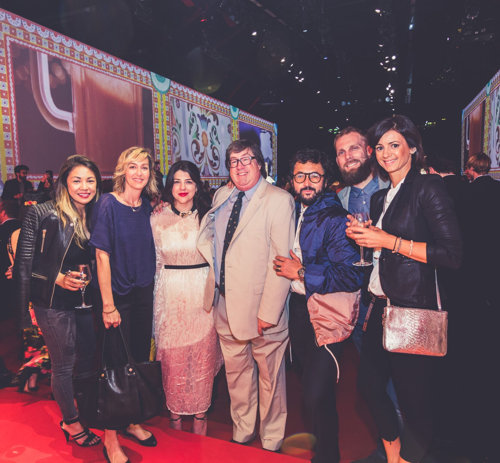 At the Dolce & Gabbana SMEG launch party. Edel, Ginna, Charlotte and Chris Welch, César Giraldo, Chris and friend