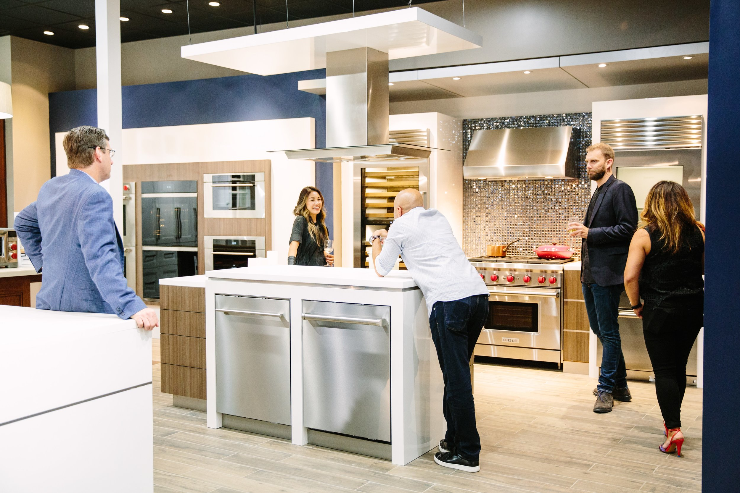 The new Living Kitchen, created in collaboration with Sub-Zero Wolf