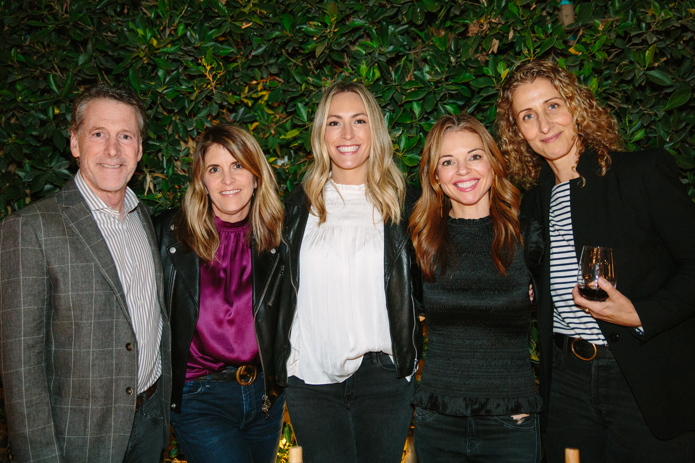 Russ Diamond, Andrea Stanford, design partners Brittany Zwickl and Shannon Wollack of Studio Life/Style, and Dana Joy Altman
