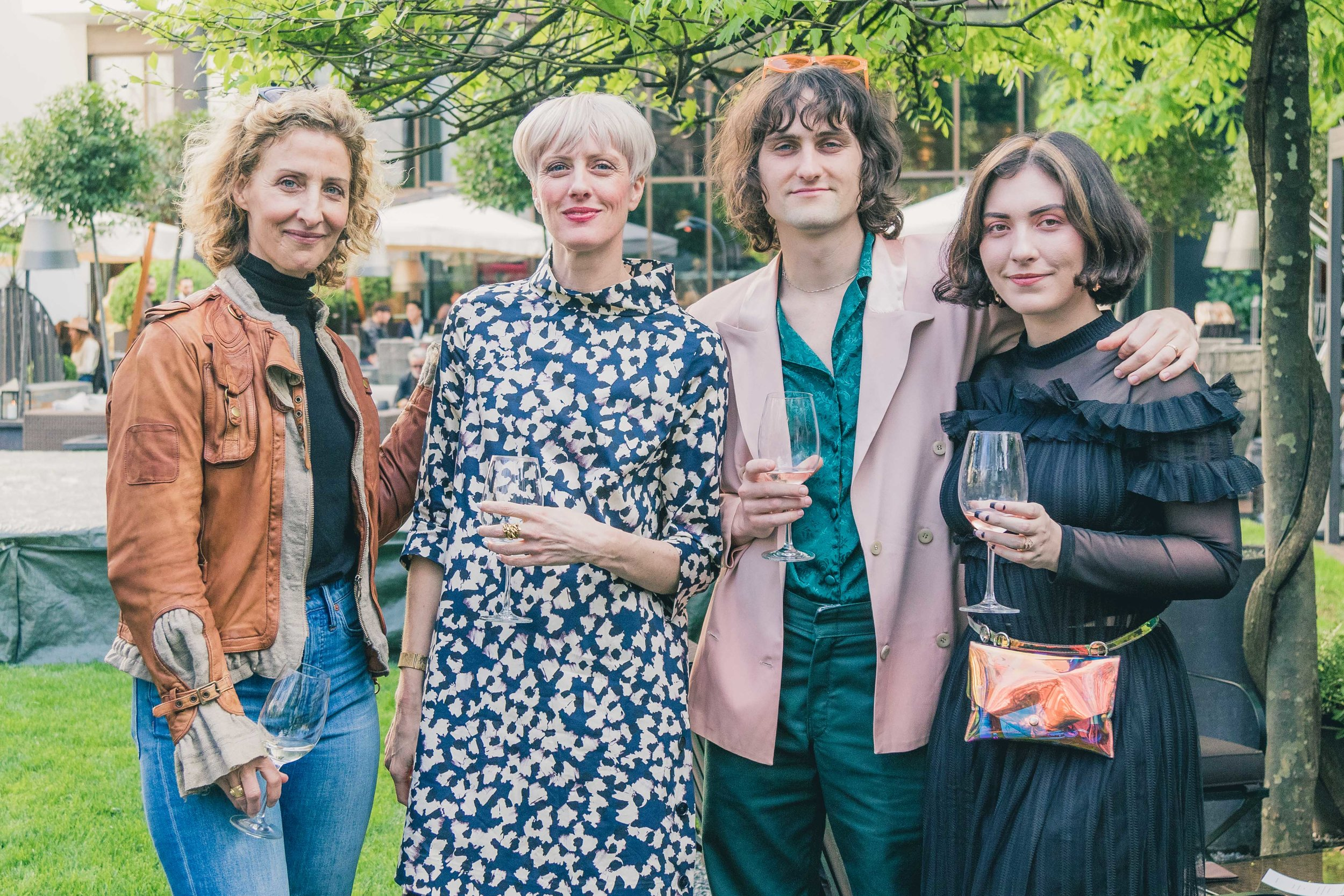 Dana Joy Altman of Snyder Diamond, Barbara Rourke of Bells & Whistles, musician Cale Chronister and and wife, designer Bailey Lafitte Chronister