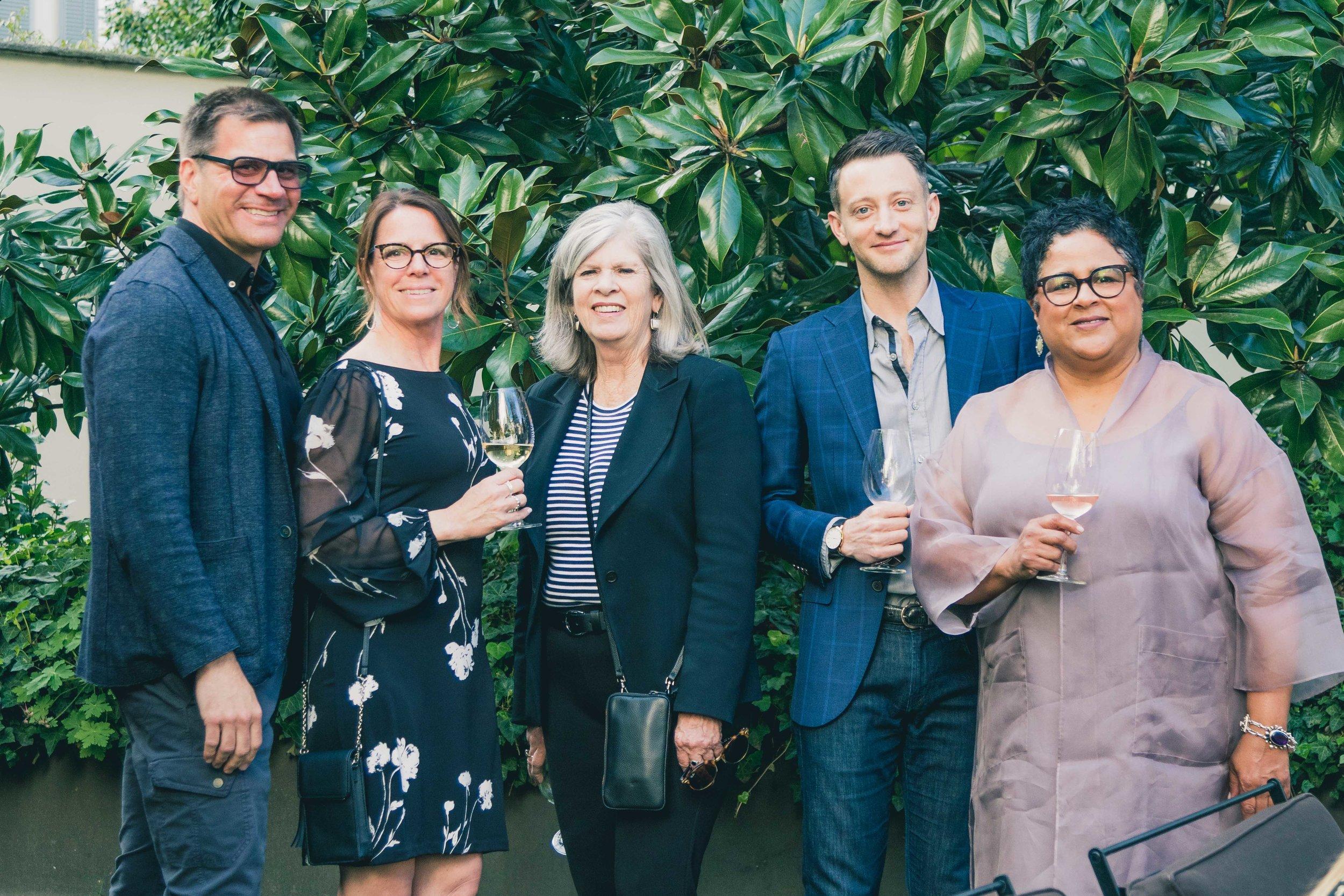 Stephan Jones of Stephan Jones Interiors, Mariann Claggett of Kitchen Design Group, Barbara Lowenthal, Caren Rideau of Kitchen Design Group