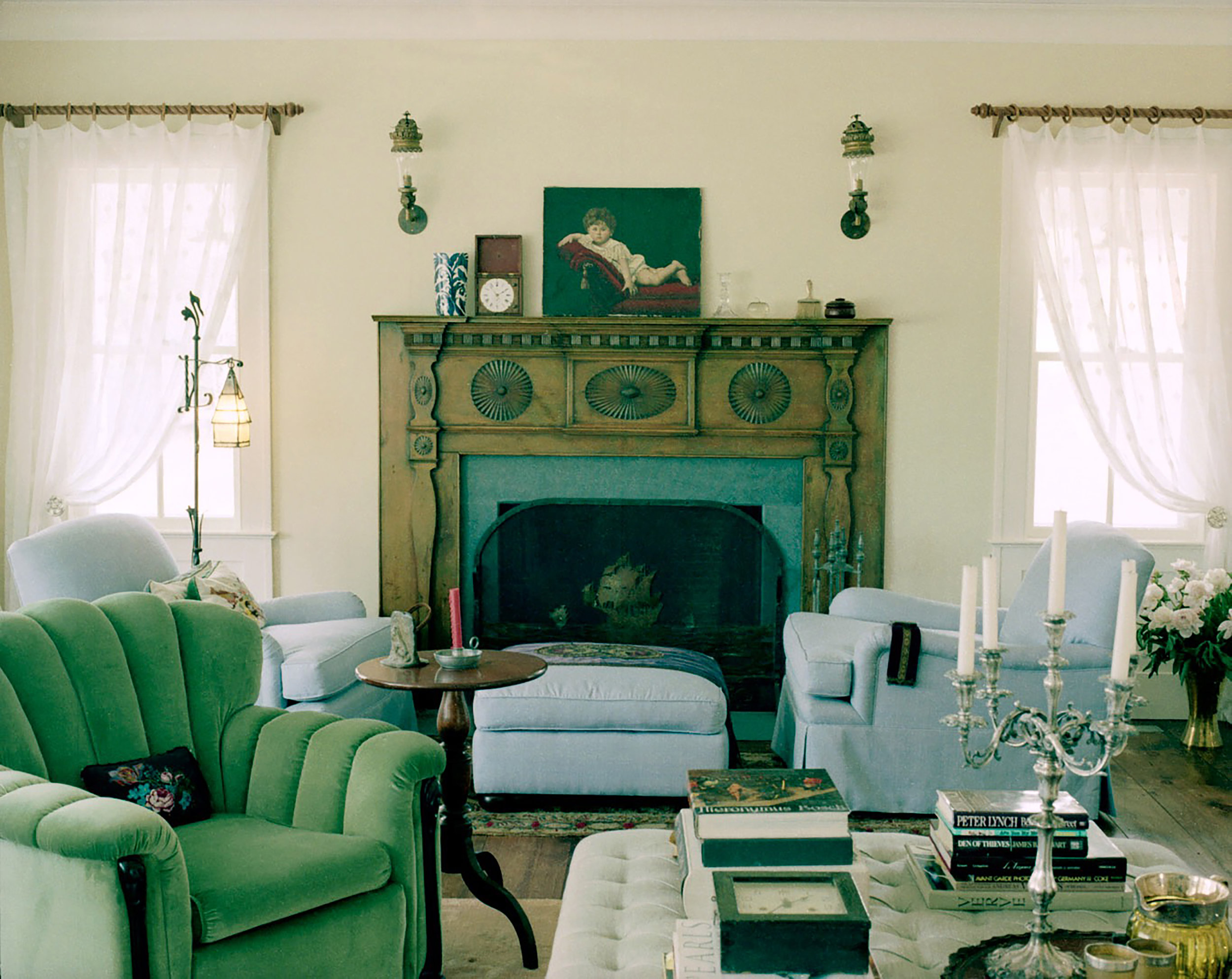 """""""This was my very first project on my own,"""" says Gillian. """"It was a country house in Beaverkill, New York, on 400 acres."""" Photo by Oberto Gili"""