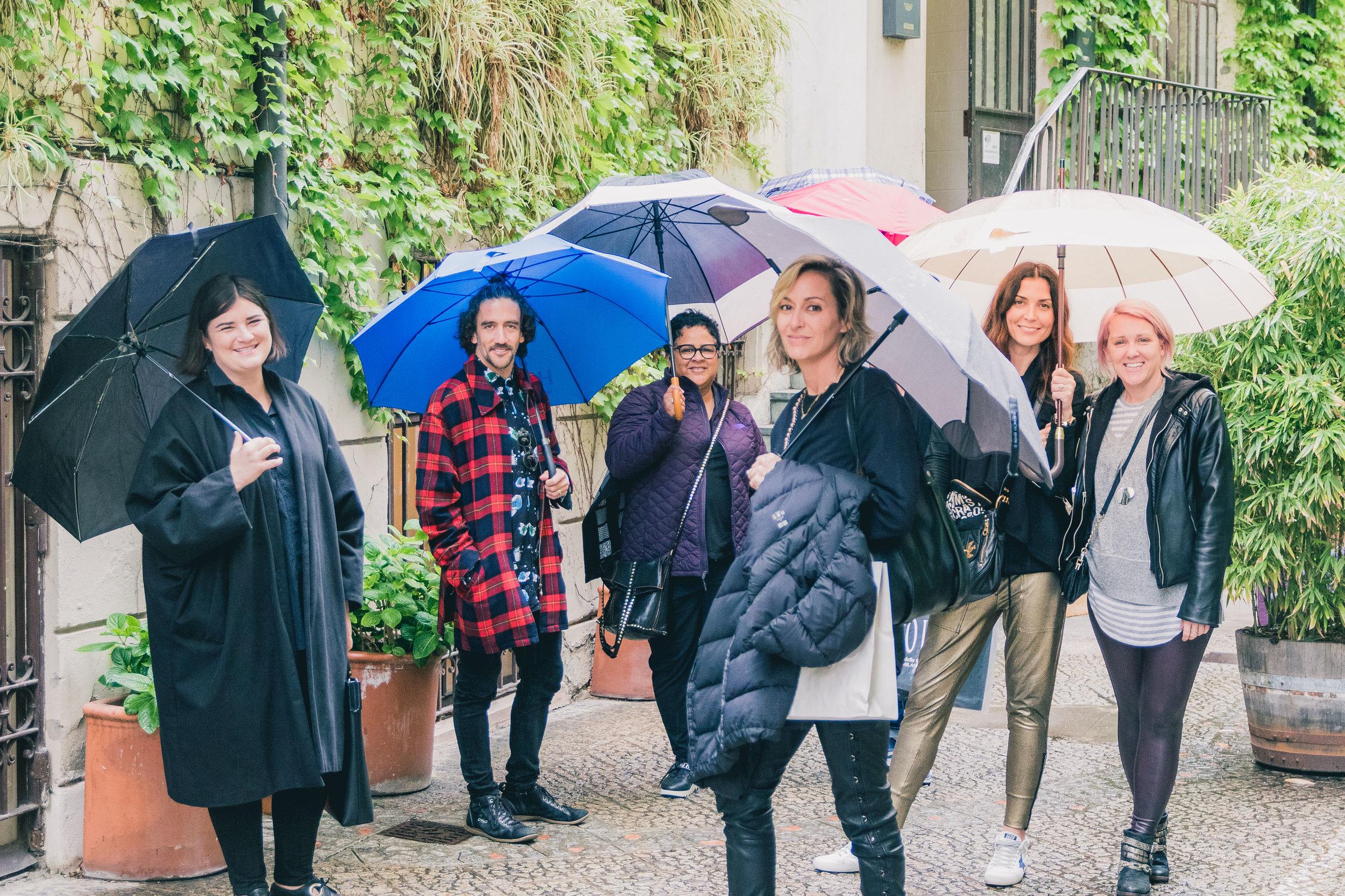 Fearless creatives (from left to right): Beks Opperman, Matthew Rosenberg, Caren Rideau, Ginna Christensen, Joanna Parol and Tracy Hiner