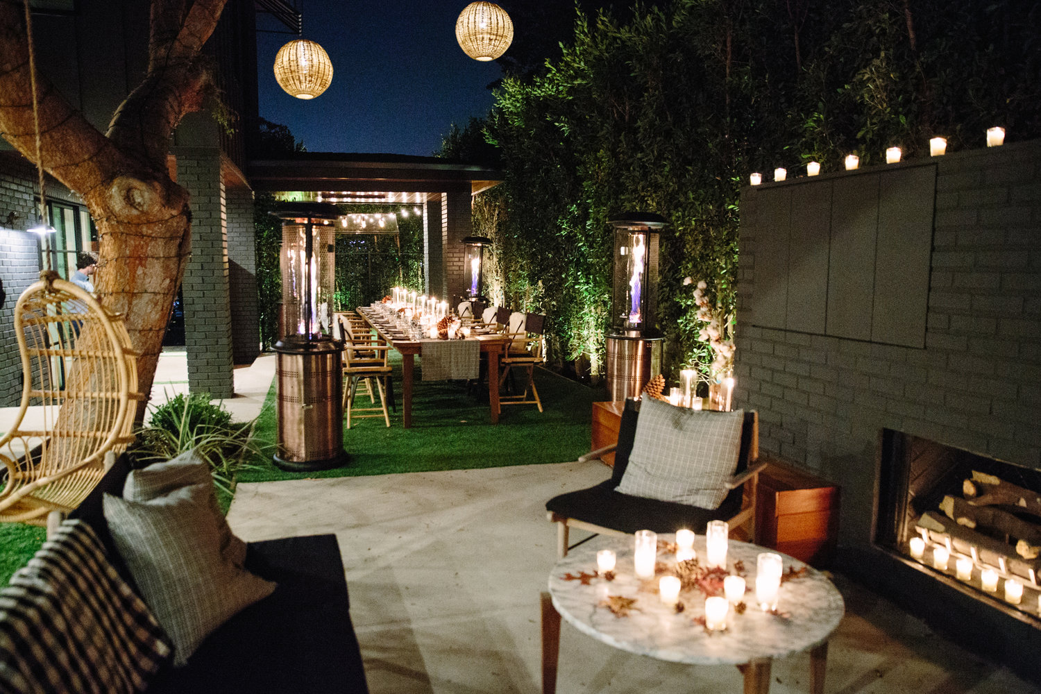 The designer's gorgeous backyard, where she and design partner Brittany Zwickl hosted a party for Snyder Diamond and C Magazine last November. Check out  our event post  to see more. Photogpher  Stephanie Plomarity