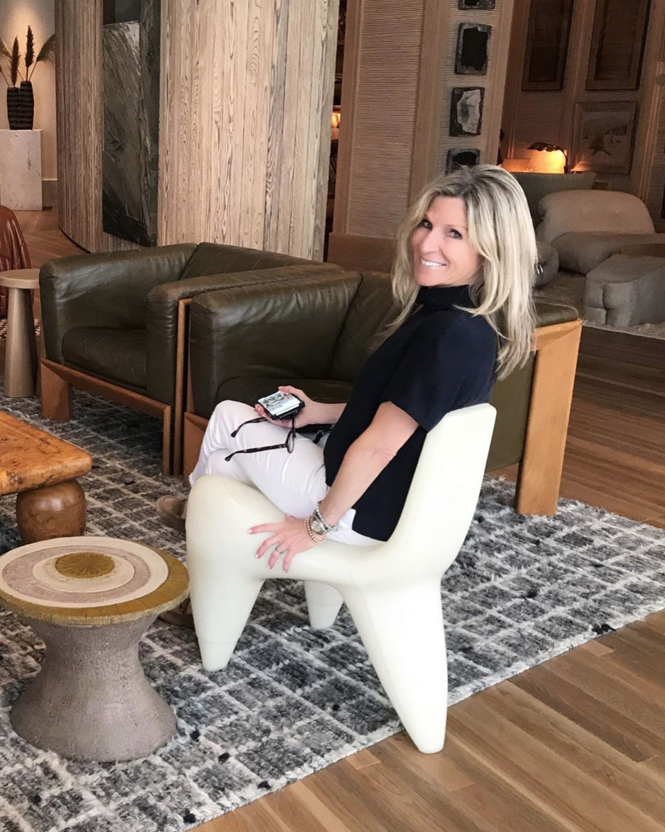 Lori Gilder  at the new Santa Monica Proper hotel, photographed by fellow designer  Erica Islas .