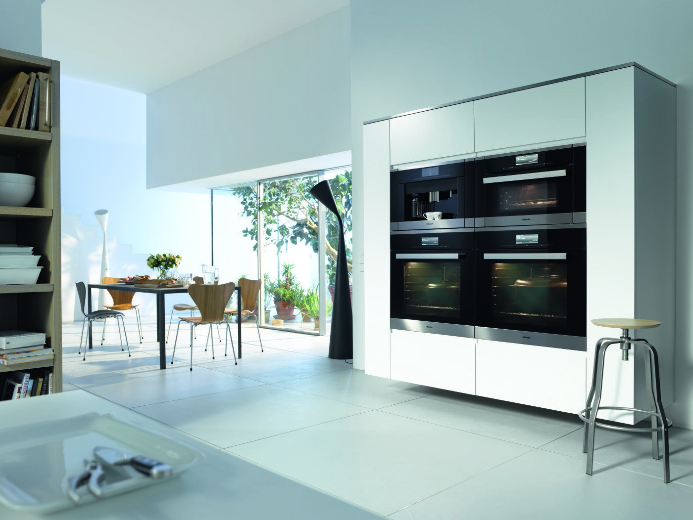 Built-in Miele appliances—as handsome as they are hard-working.