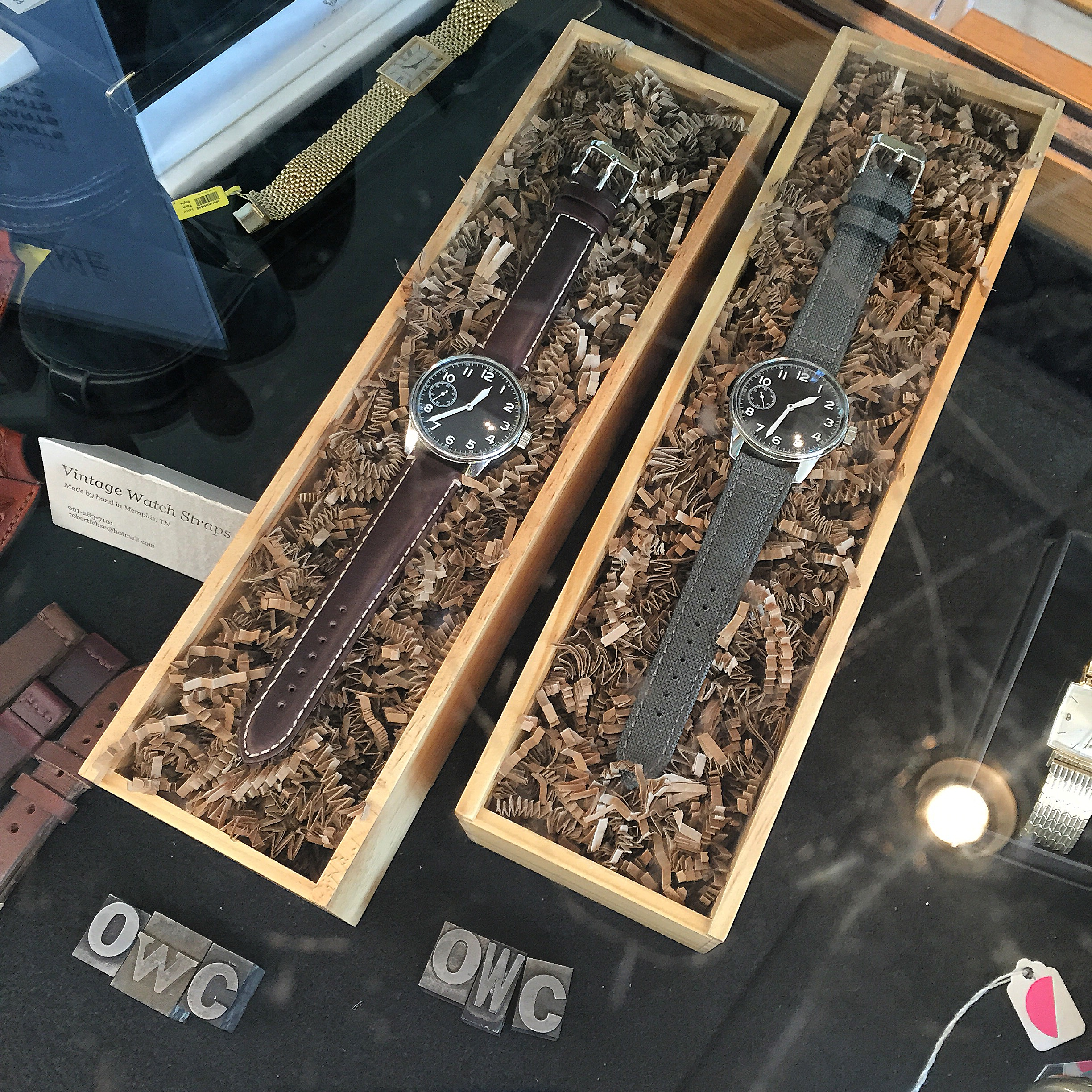Vintage Field Watches on display
