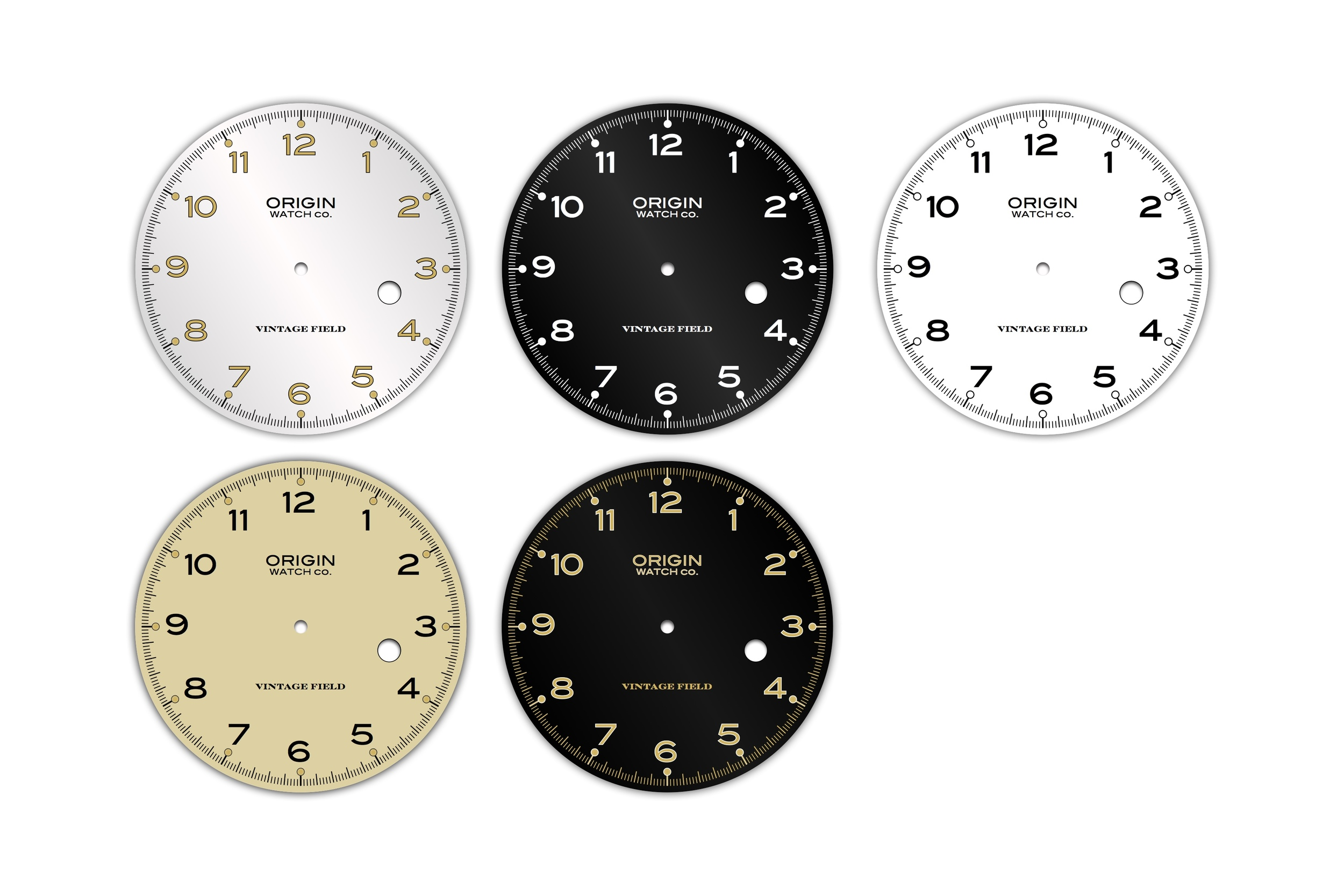 Vintage Field Date Dials for Automatic Movement