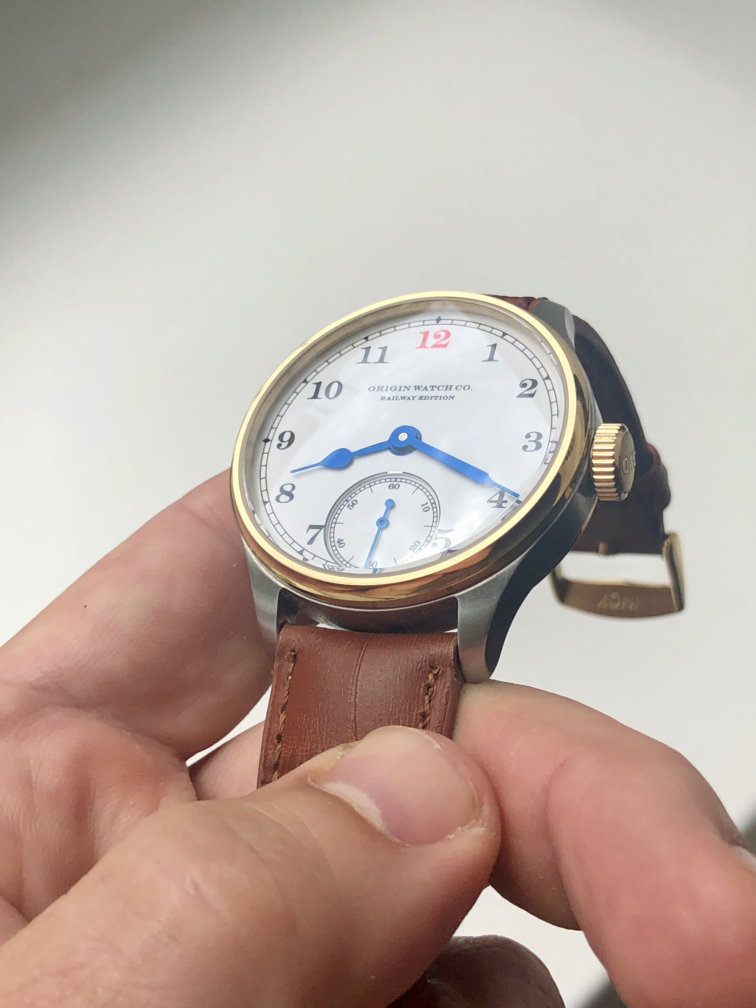 Railway Edition Red 12 with Gold Bezel