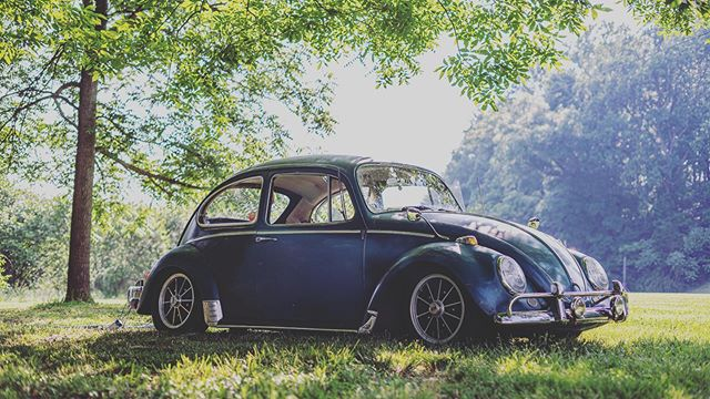 So this was the get away car from the wedding the other night, it was so much fun! #vw #vwbeetle #66vwbug