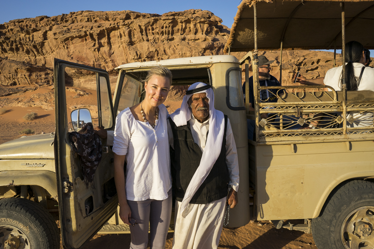- JORDANFeatured: Amman, Wadi Rum, Petra and the Dead SeaSyndication and licensing worldwide available through Aurora PhotosTo the left: A behind the scenes photo of myself with one of the gentlemen who drove us around in his pickup truck