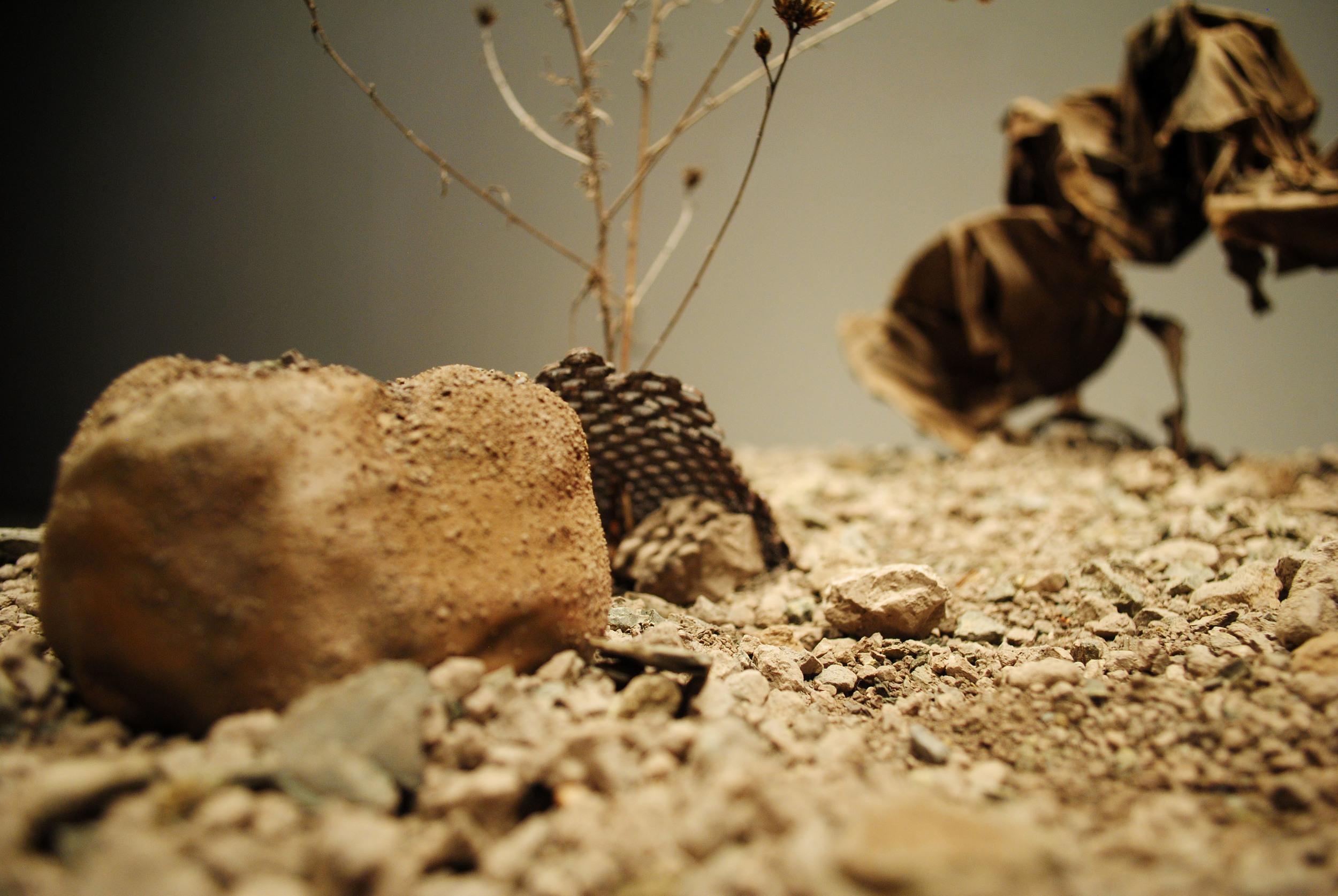 clay, gypsum  , fabric, iron, wood| 2014