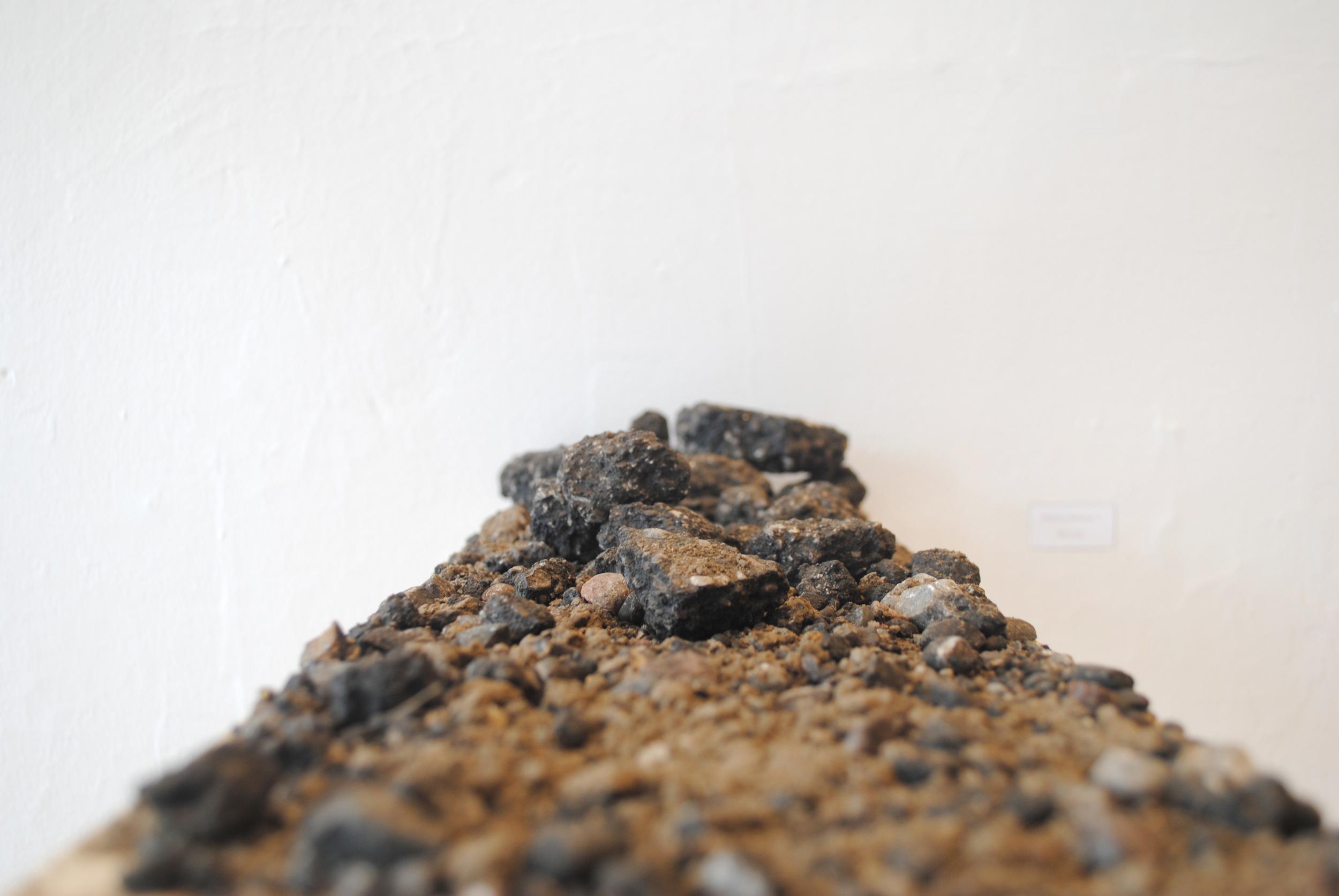 Elevation Series #2  wood, asphalt, dirt   $100
