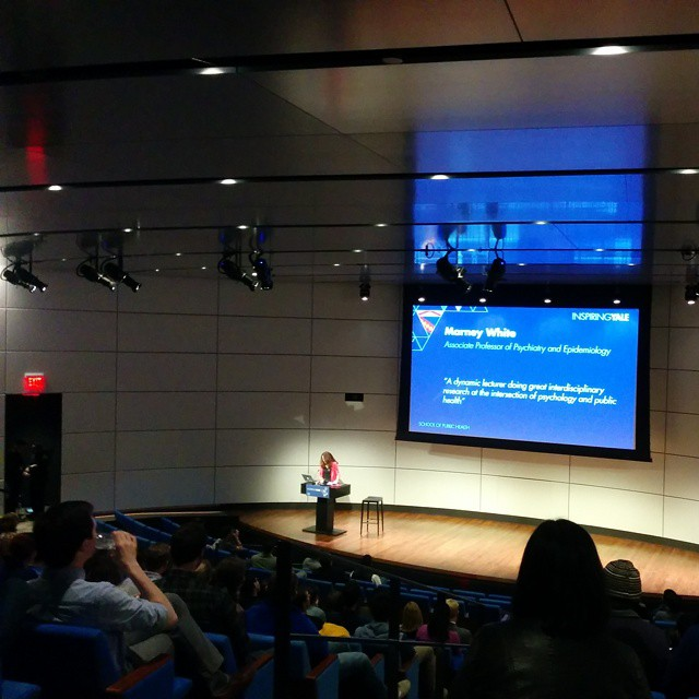 Professor Marney White on public health!