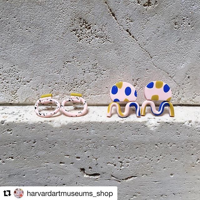 Another gorgeous pic by another new stockist: Harvard Art Museums Shop #Repost @harvardartmuseums_shop ・・・ Polymer clay earrings and necklaces by @katetrouwjewellery are perfect accessories for a playful summer look! Handmade in Fife, Scotland. #polymerclay