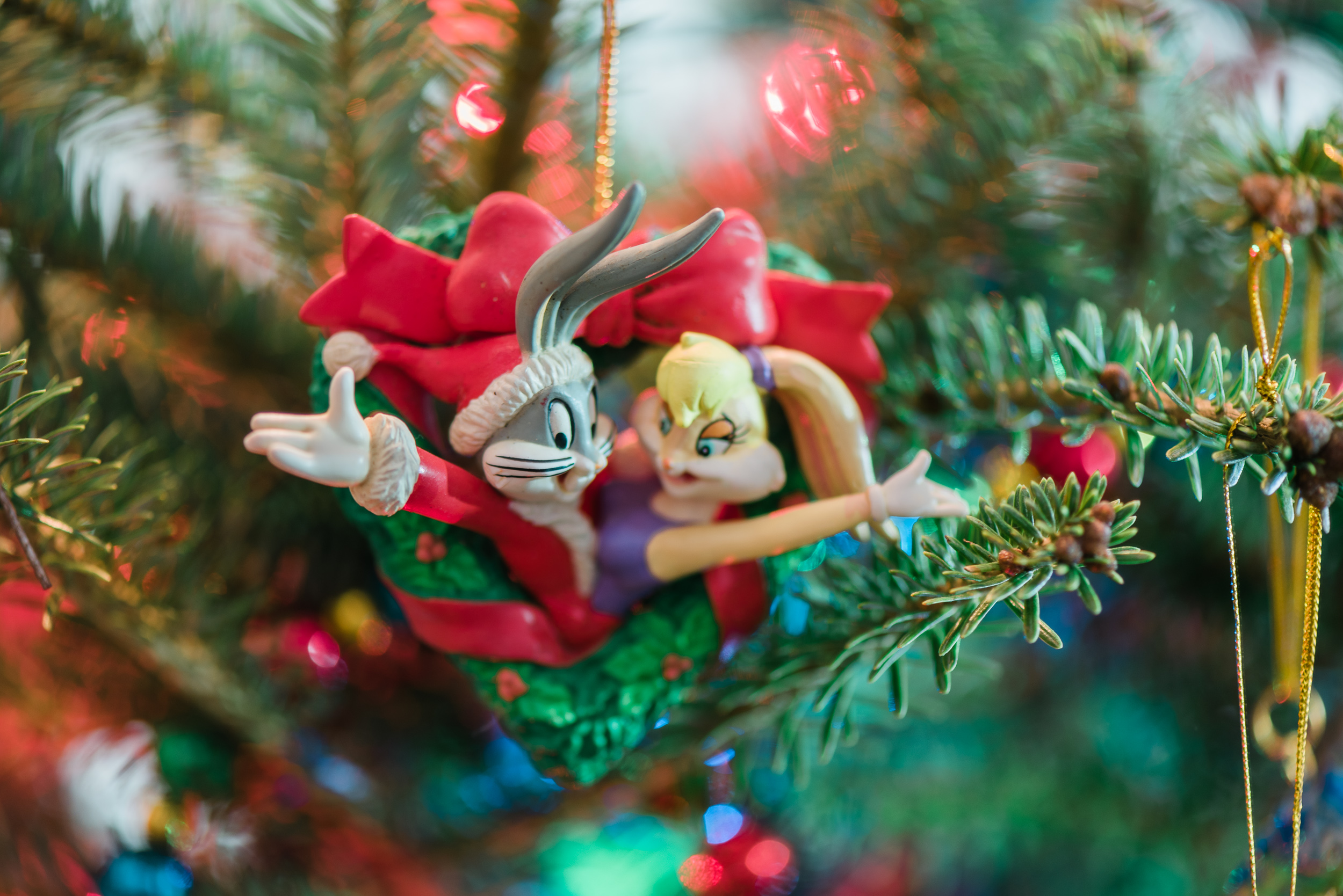 Christmas-Tree-Sarah-Danielle-Portraits-Bugs-Bunny-ornament-Wedding-Photographer