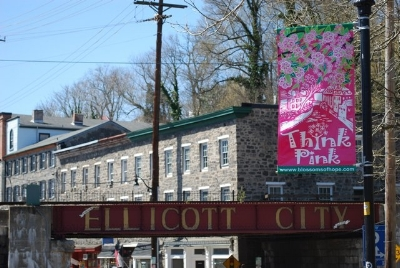 Think Pink in Downtown Ellicott City, 2012.