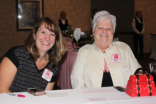 Celebration greeters, Vera Simmons and Janet Robey (BOH Board member).