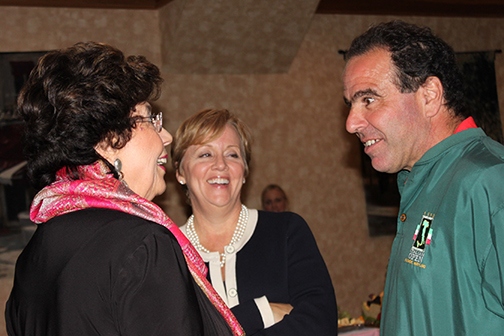 Regina Ford (BOH Board member), Jan Hines (HHF) and Pete Mangione (BOH Board member)