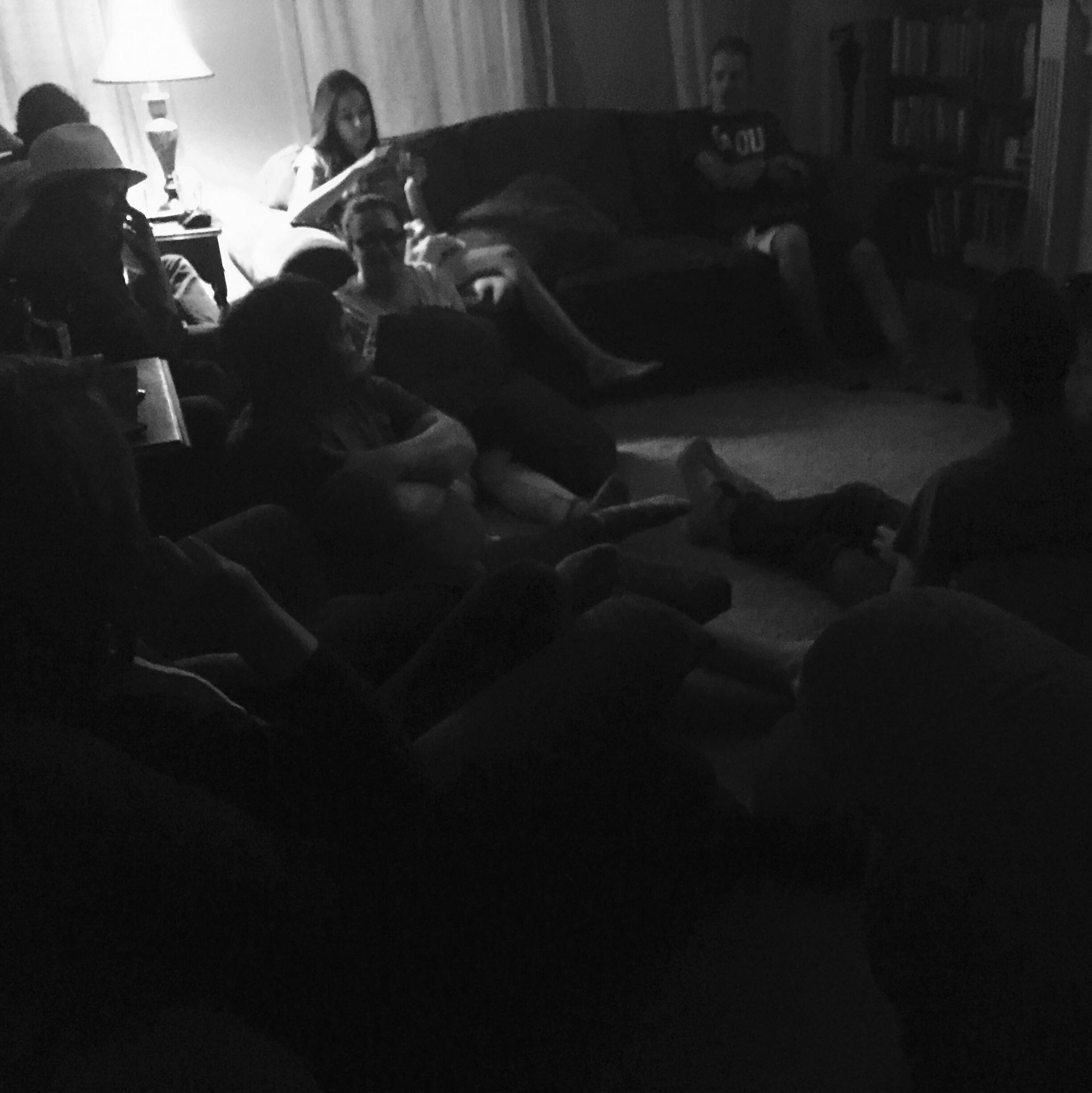 This is the movie crew, it was raining so we couldn't watch it outside.