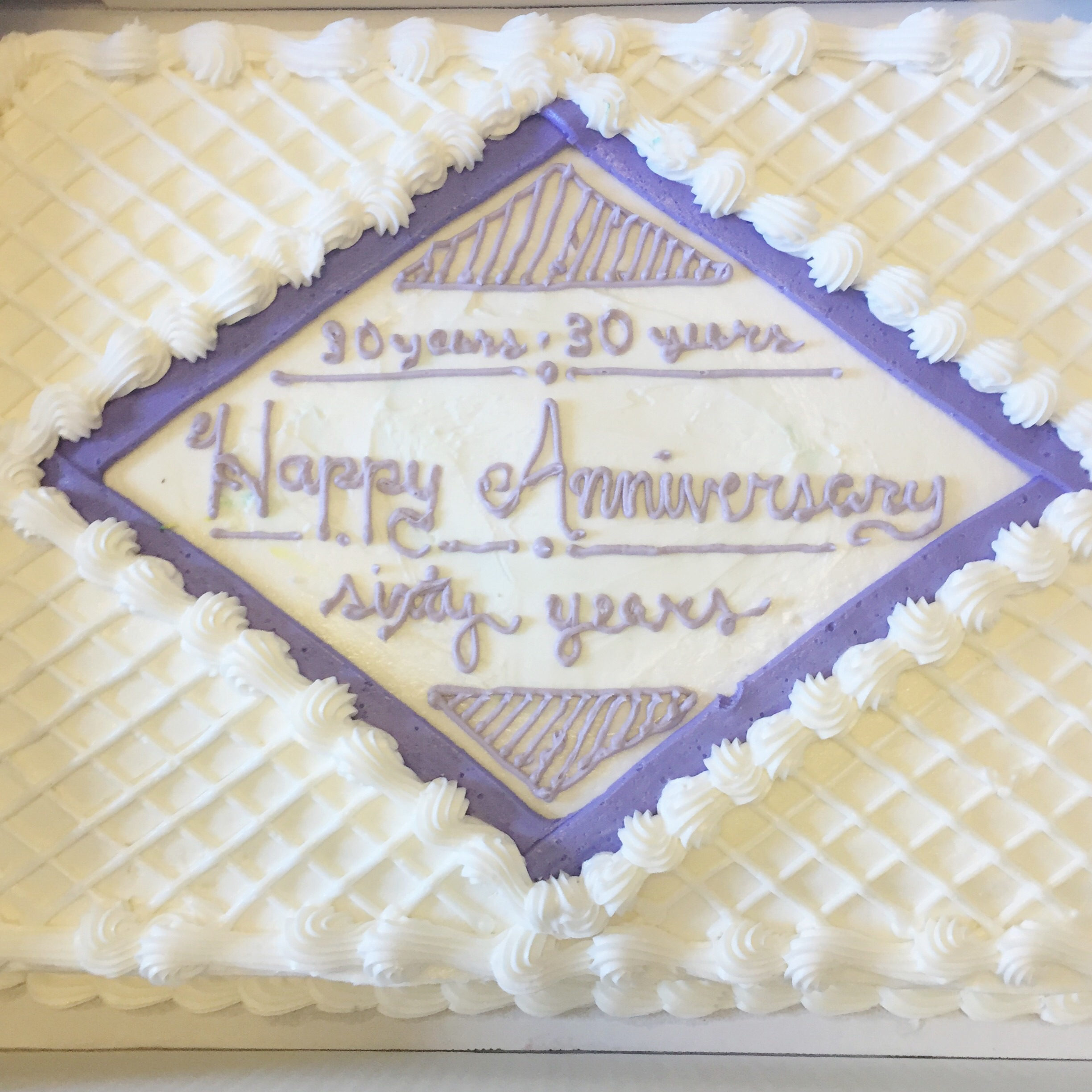 This year was my grandparents 60th and both my parents and aunt and uncles 30th anniversaries.