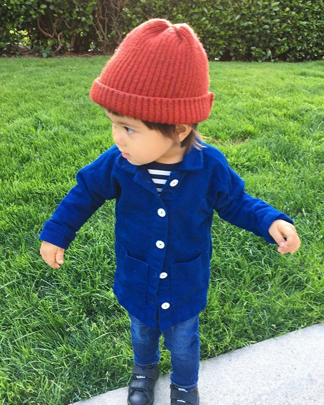 My favorite thing about making clothes for Ash is that no matter what I make, she looks so cute in it! I made this blue jacket for her 2nd birthday. It's D-7 terrible two. #mommade #kidsfashion #ootd