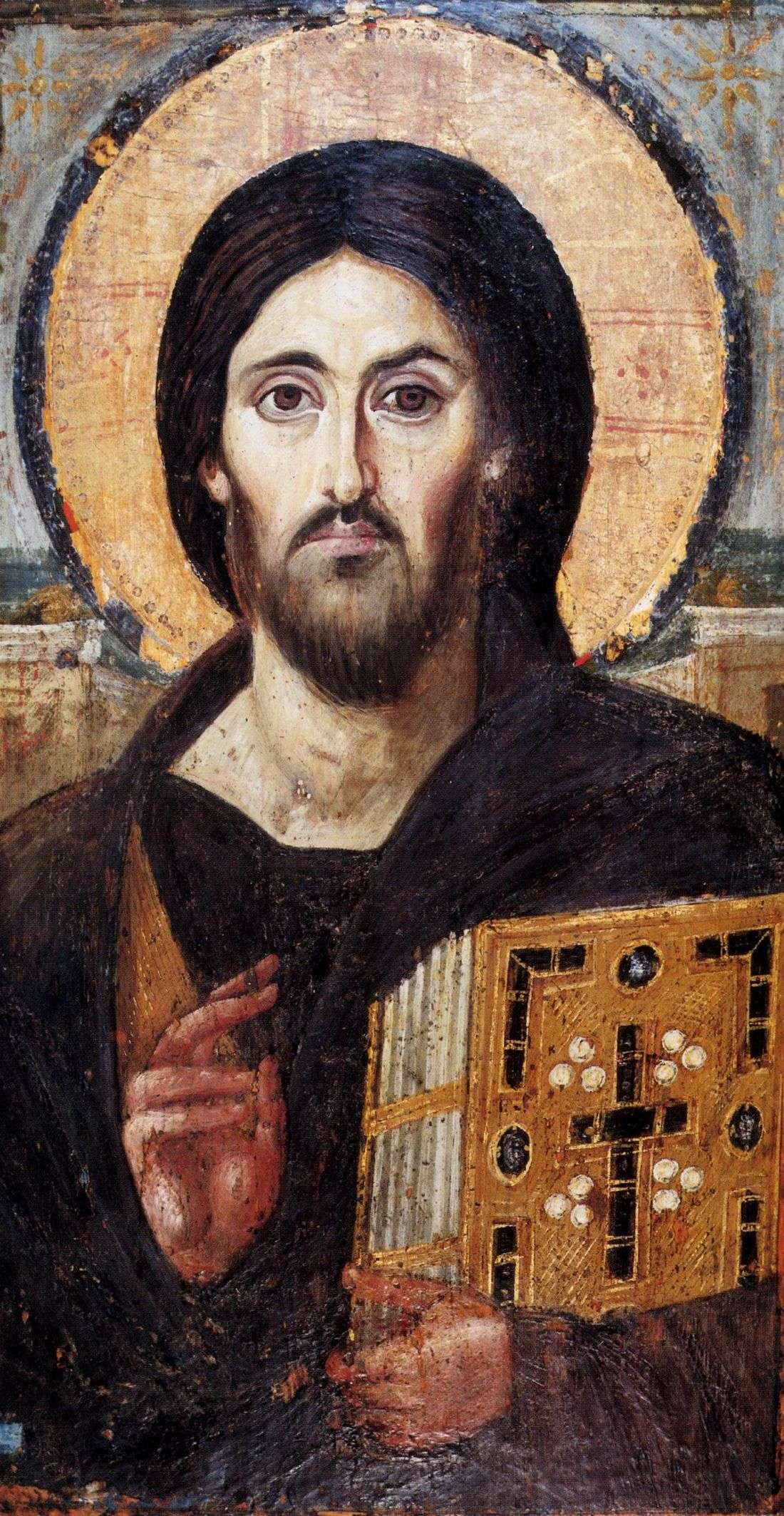 One of the oldest icons of Jesus in existence, Christ Pantokrator