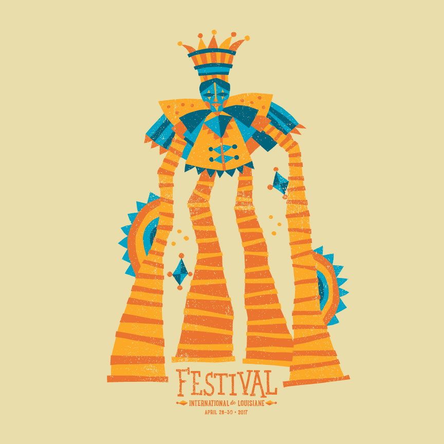 T-Shirt Design Created for Festival International de Louisiane