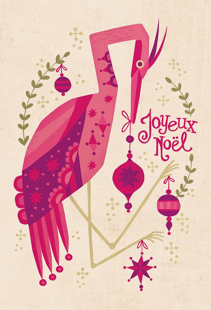 Joyeux Noel Holiday Egret