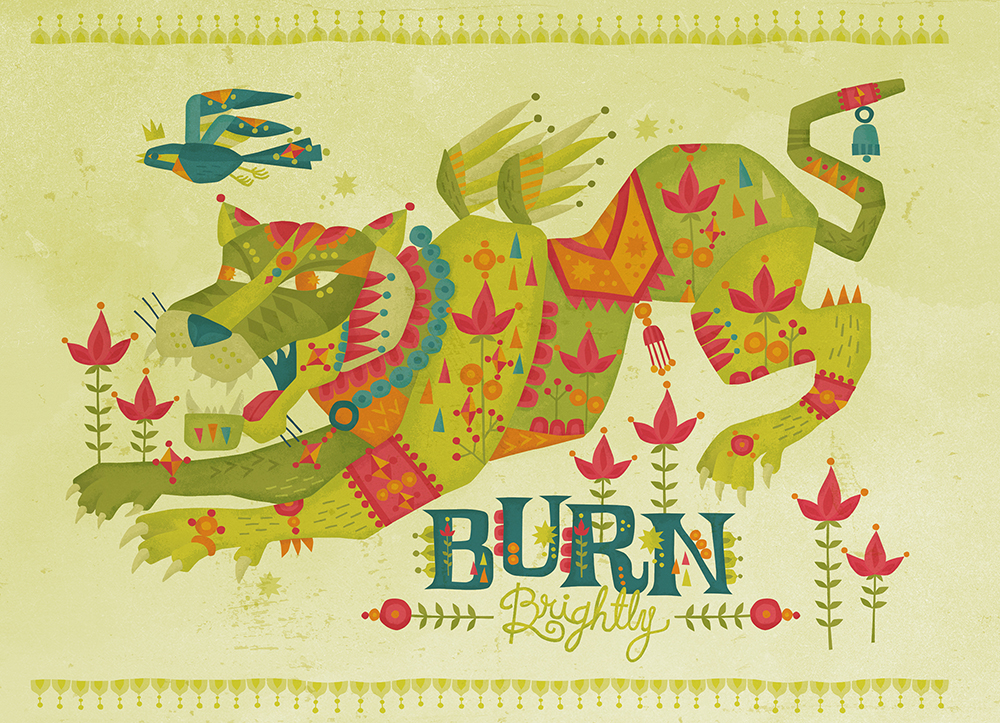 Burn Brightly Self Promotion Illustration