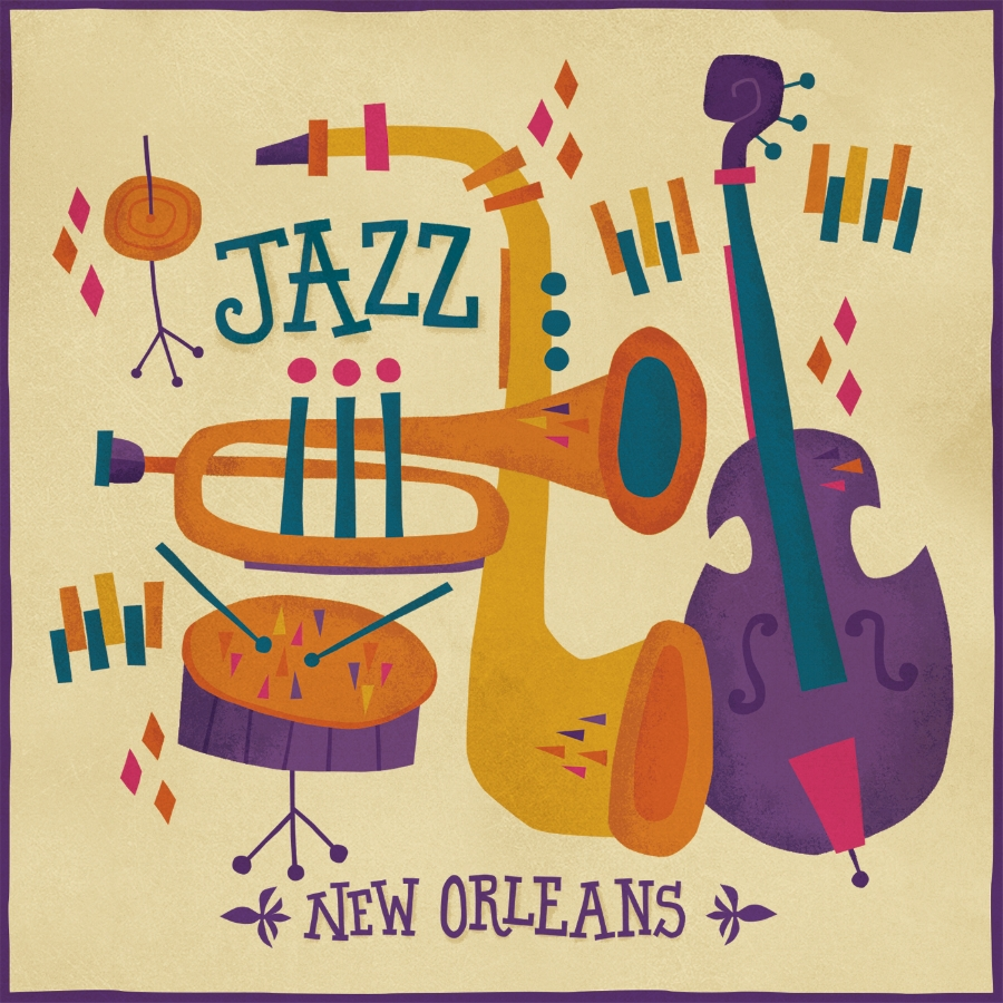 New Orleans Jazz illustration created for The Parish Line