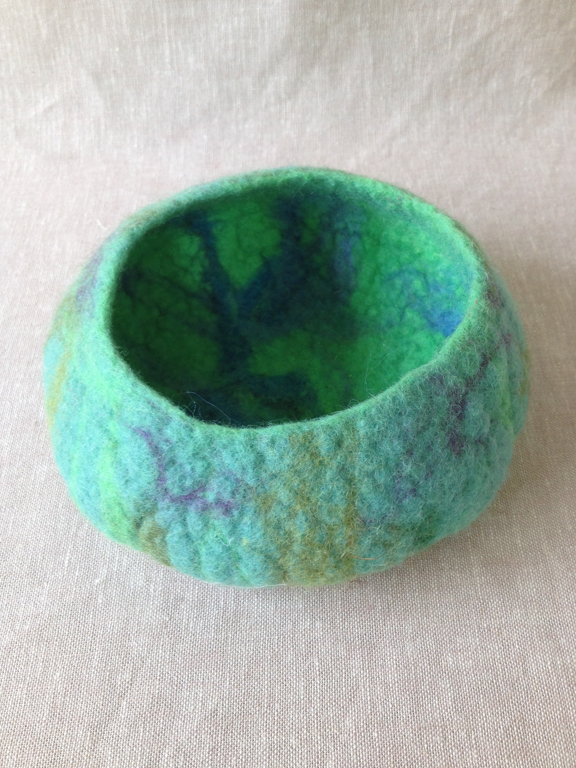 My first wet-felted piece that lit the spark.
